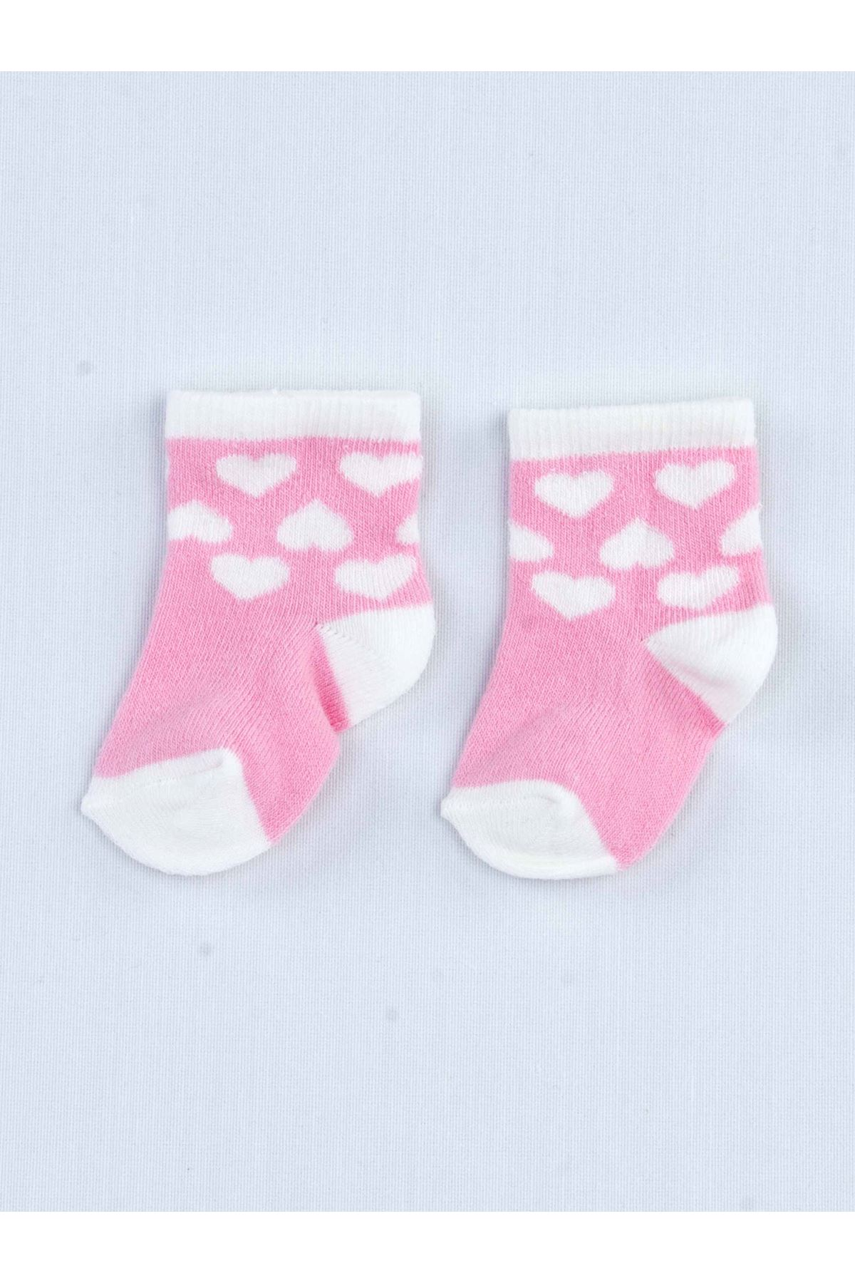 Pink Scented Baby Girl 3 Pieces Socks