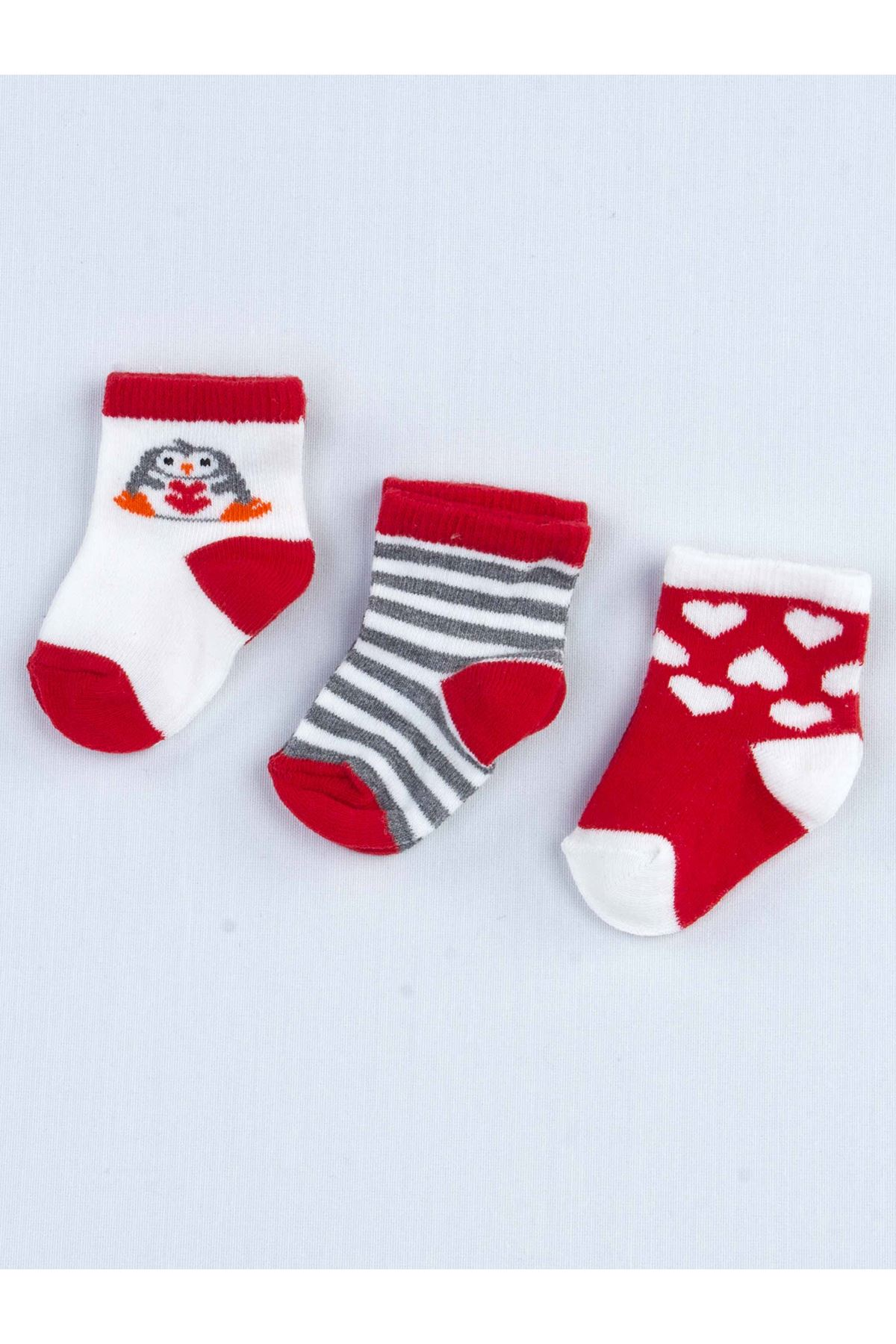 Red Scented Baby 3 Pieces Socks