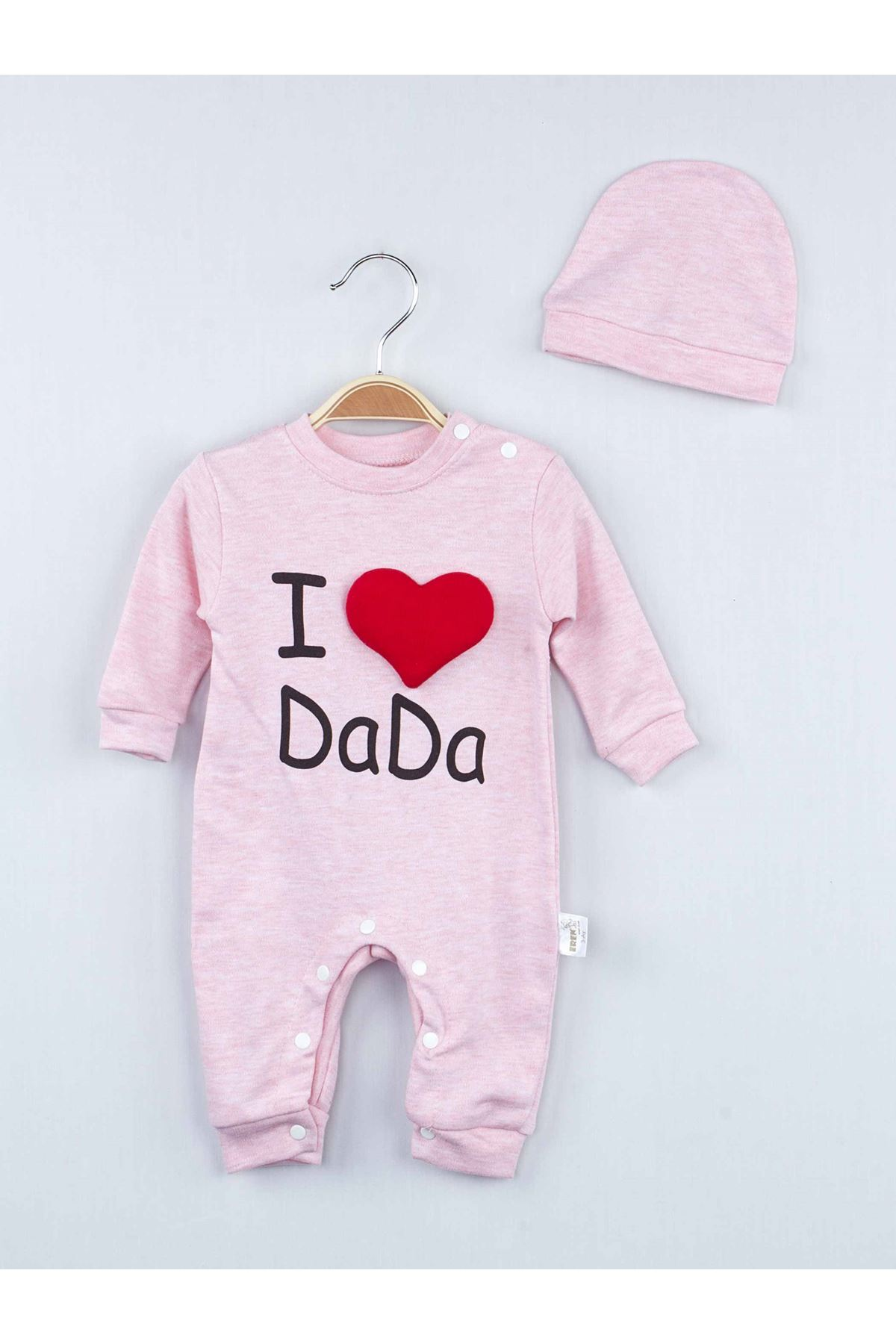 Pink I Love Dada Baby Girl Jumpsuit