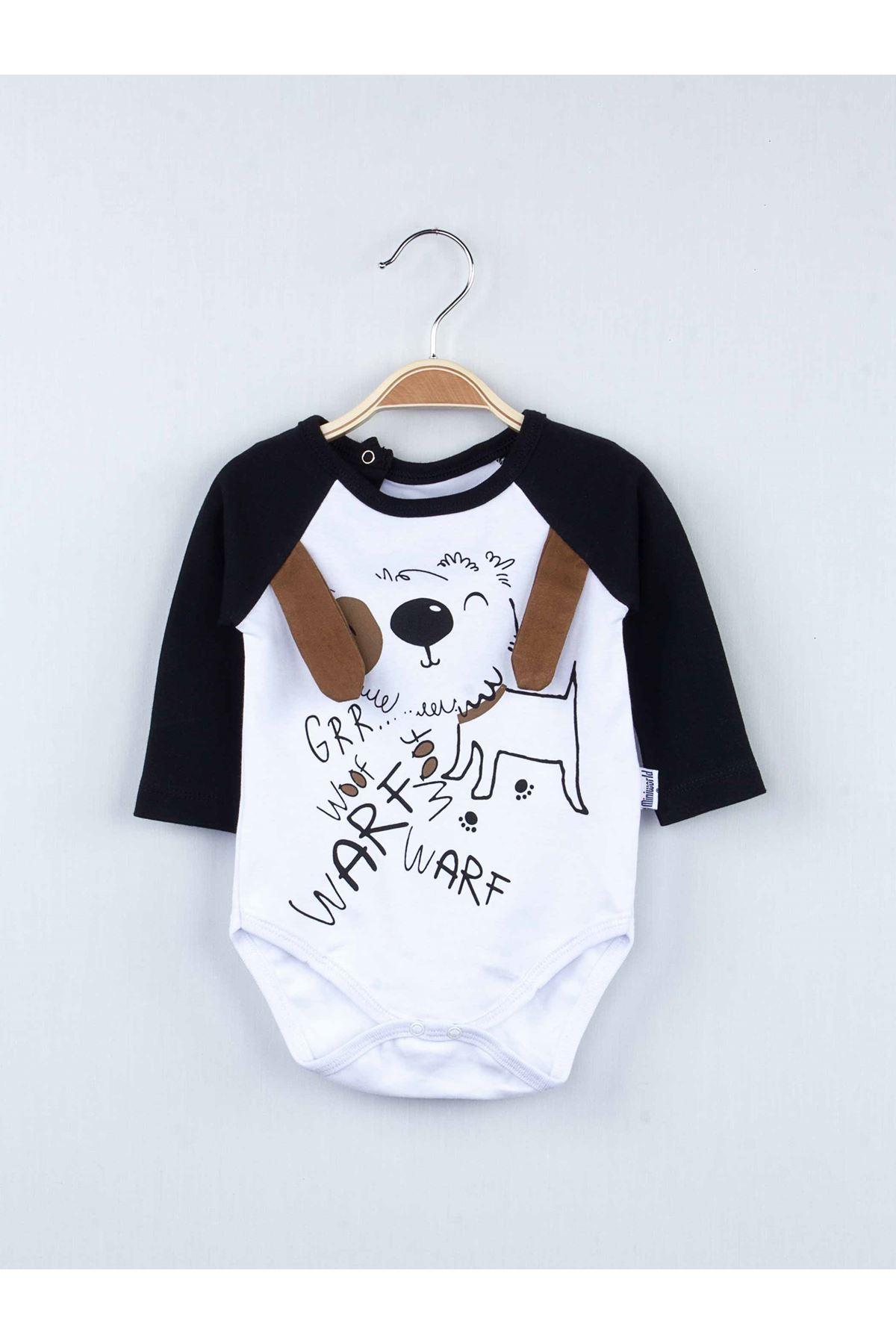 Siyah Badili Erkek Bebek 3 lü Takım