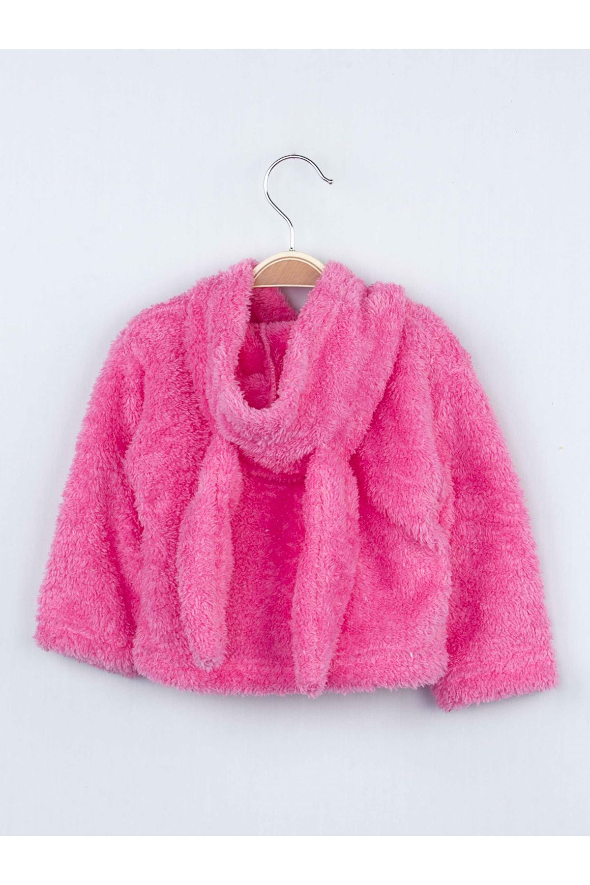 Fuchsia Winter Plush Bag Female Child The Tights suit