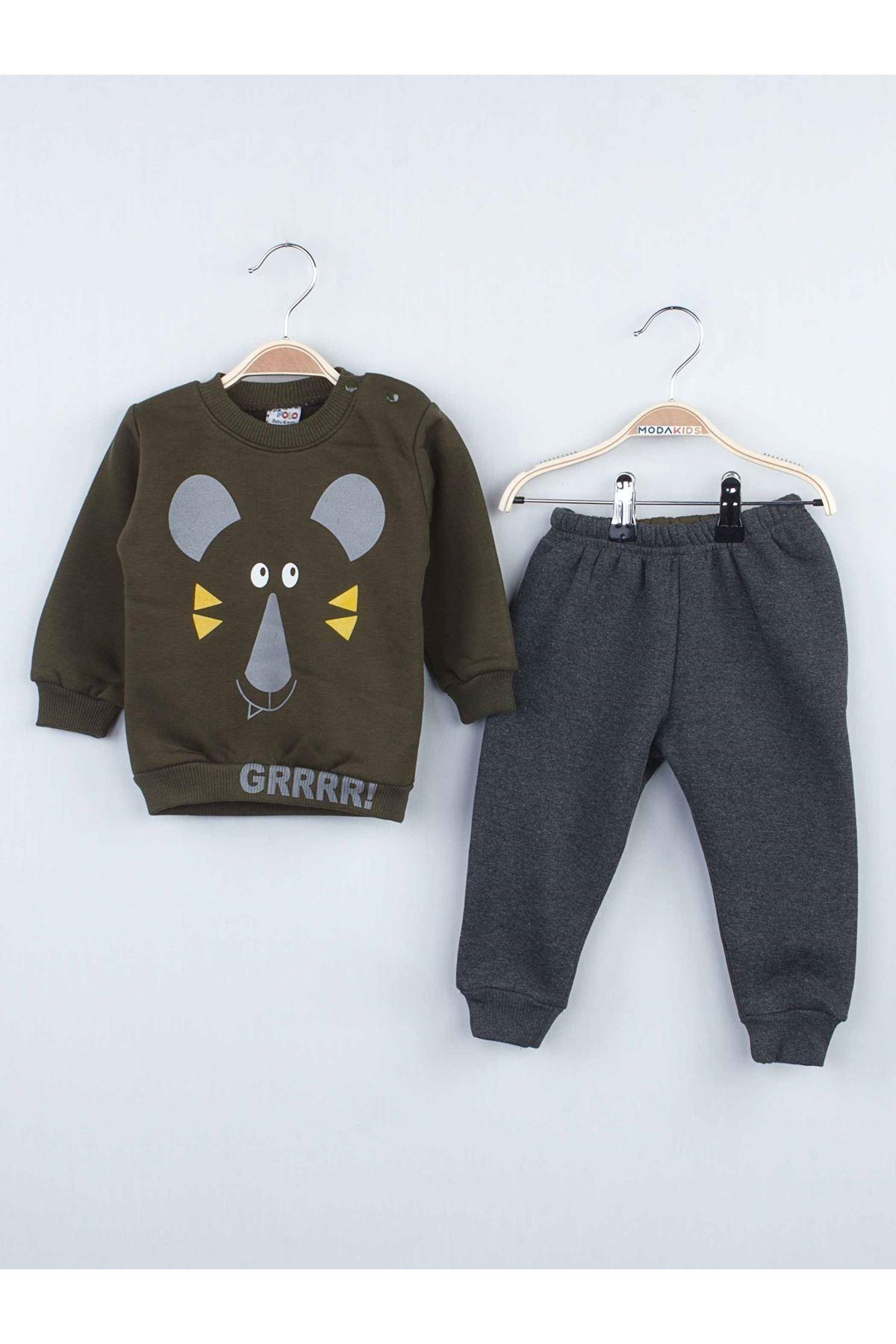 Military Green Winterisation Male Baby 2 li Suit