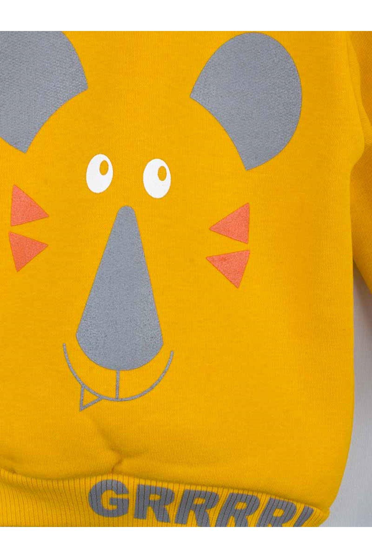 Sarı Kışlık Erkek Bebek 2 li Takım