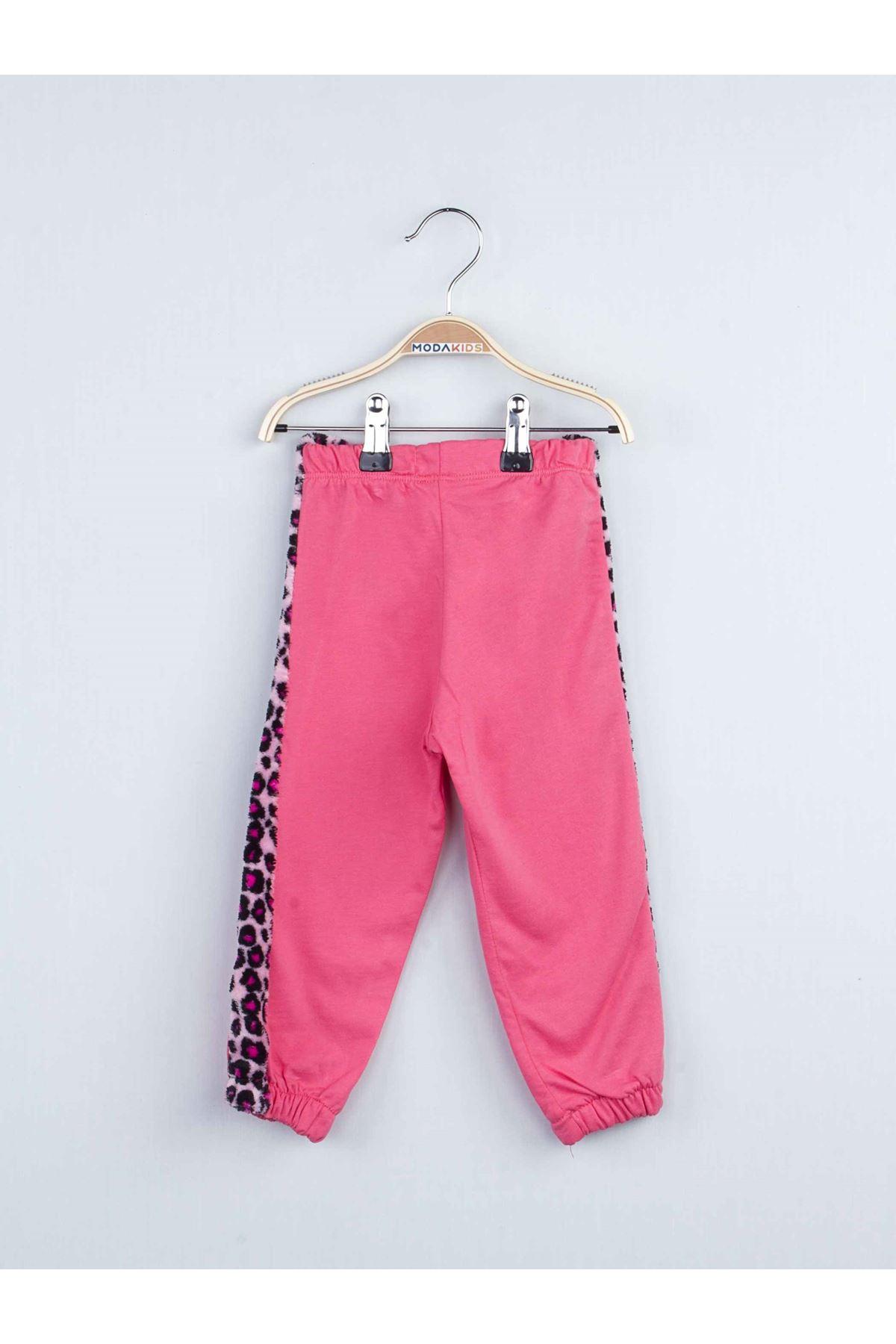 Pink Girls Girls Track suit Set Bottom Pajamas Top Pajamas Kids Daily Wear Homewear Cotton Comfortable Children Pajamas Sets