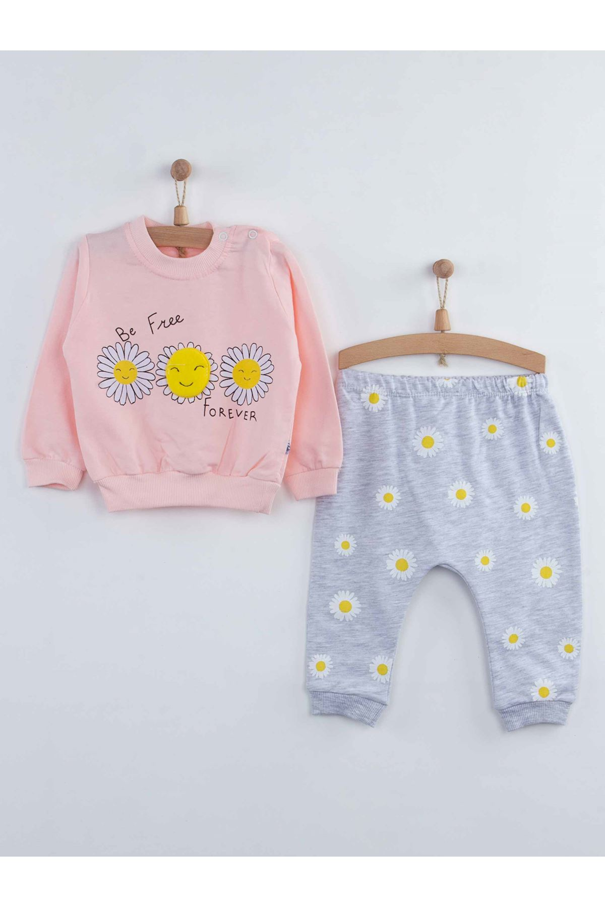 Powder Baby Girl 2 Piece Set sets Suits Cotton Seasonal Model Babies Daily Newborn Style Comfortable Clothing