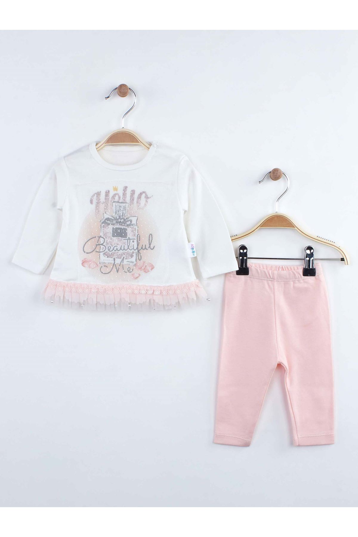 Pink Baby Girl Tights Tops Suit 2 Piecs 2021 Fashion Clothes Season Cotton Seasonal Casual Girls Babies Clothing Outfits Models