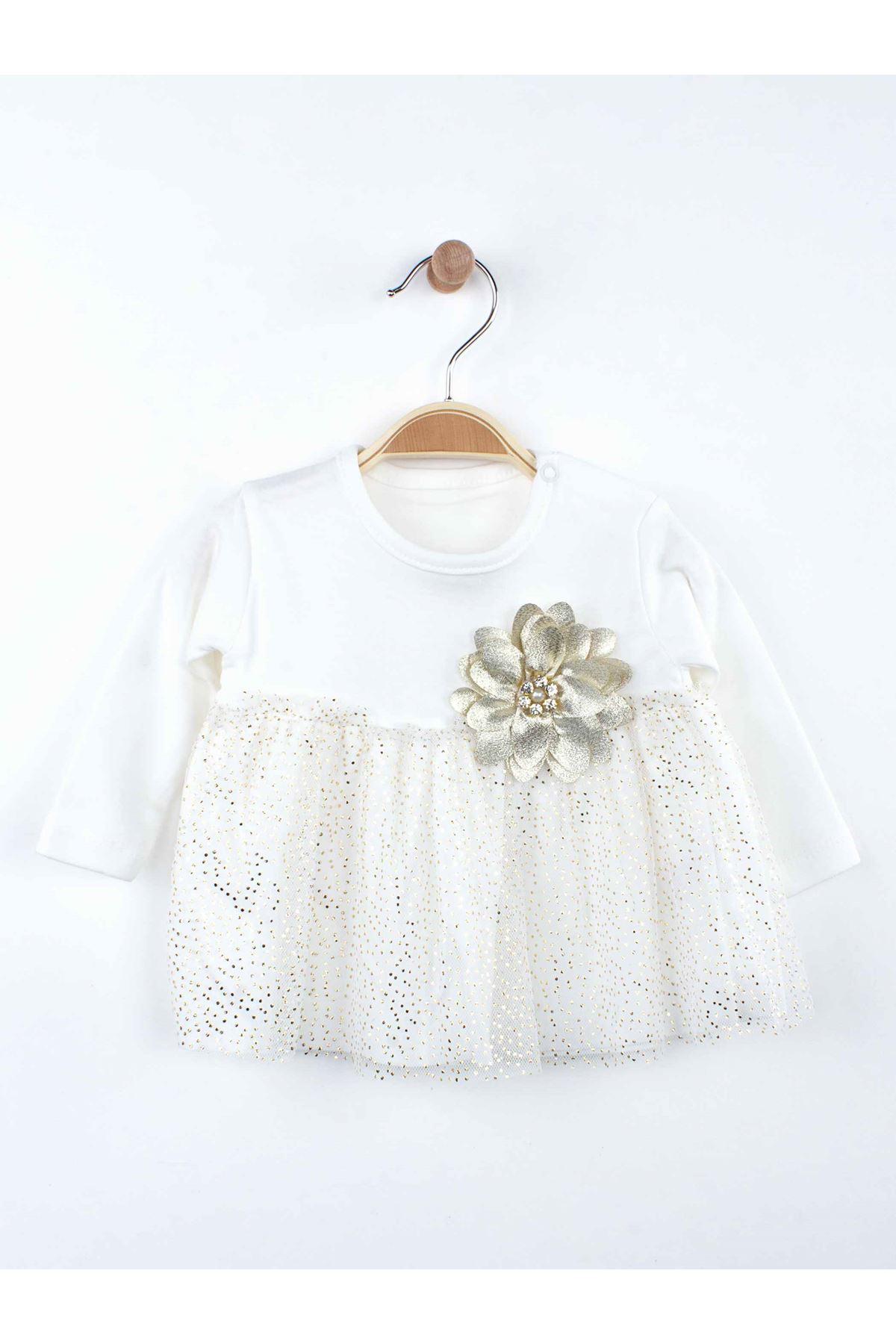 White Baby Girl Tights Set