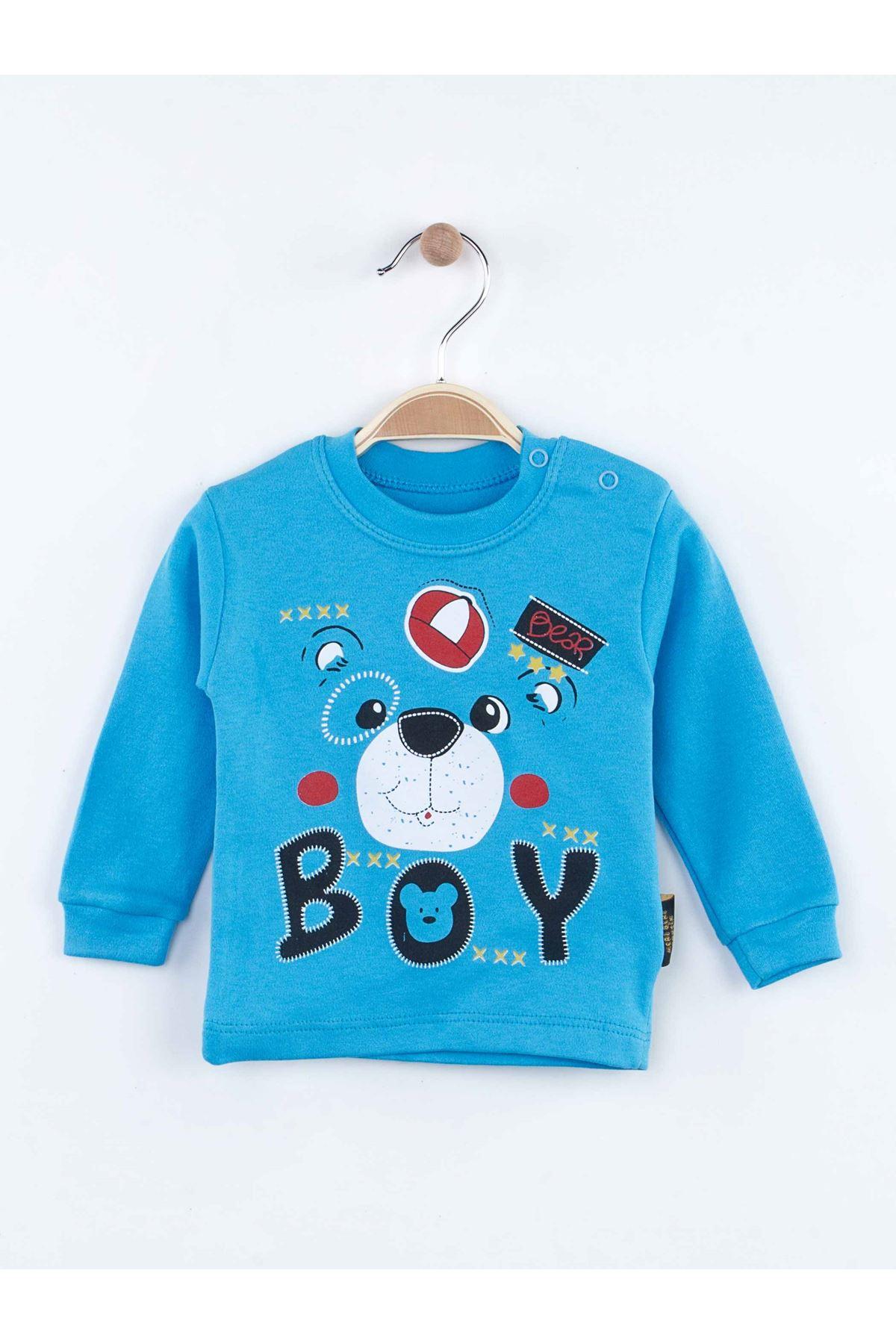 Mavi Mevsimlik Erkek Bebek 2 li Takım