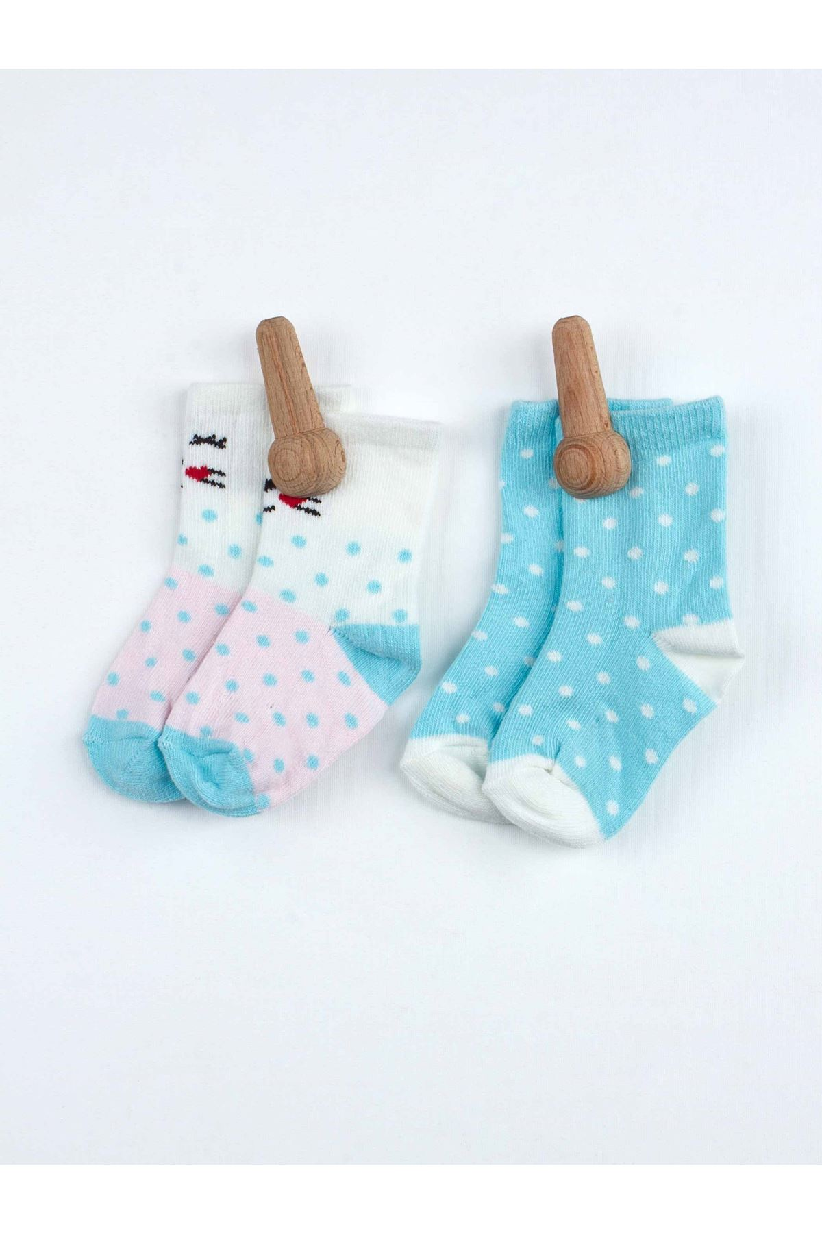 Blue Scented Baby Girl 2 Pieces Socks