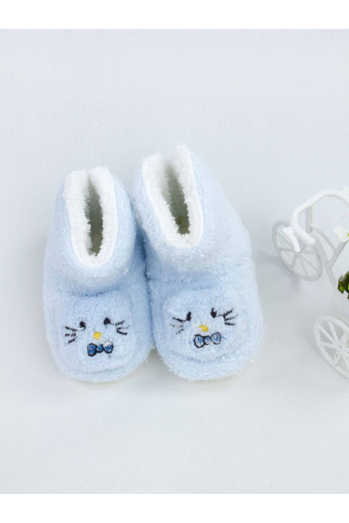 Mavi Figürlü Kız Bebek Welsoft Panduf