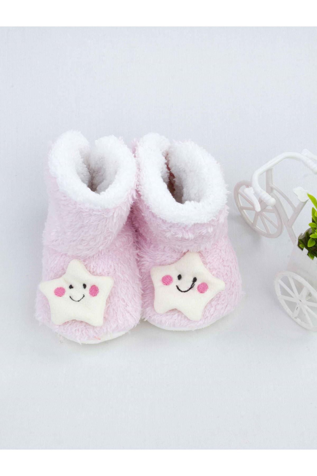 Pembe Yıldız Figürlü Kız Bebek Welsoft Panduf