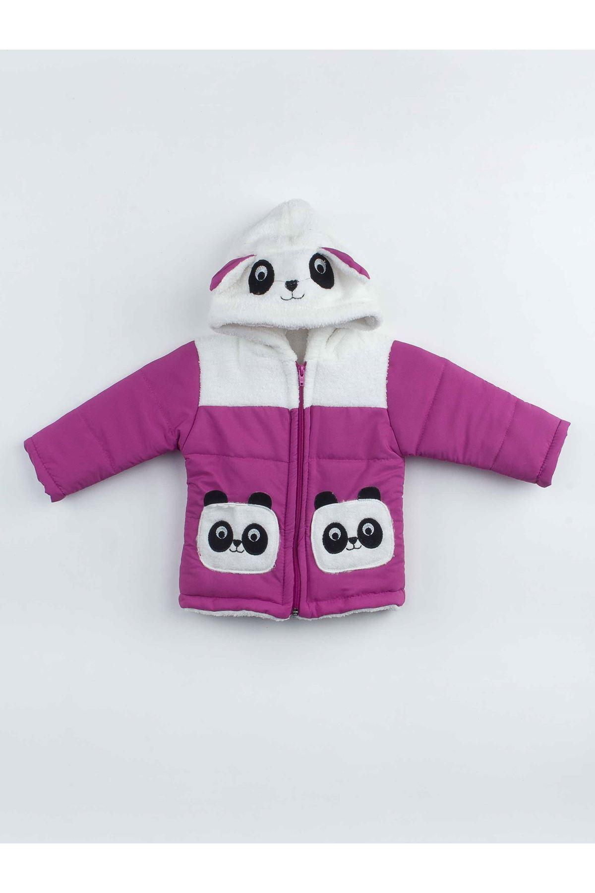 Purple The Panda Female Child Hooded coats