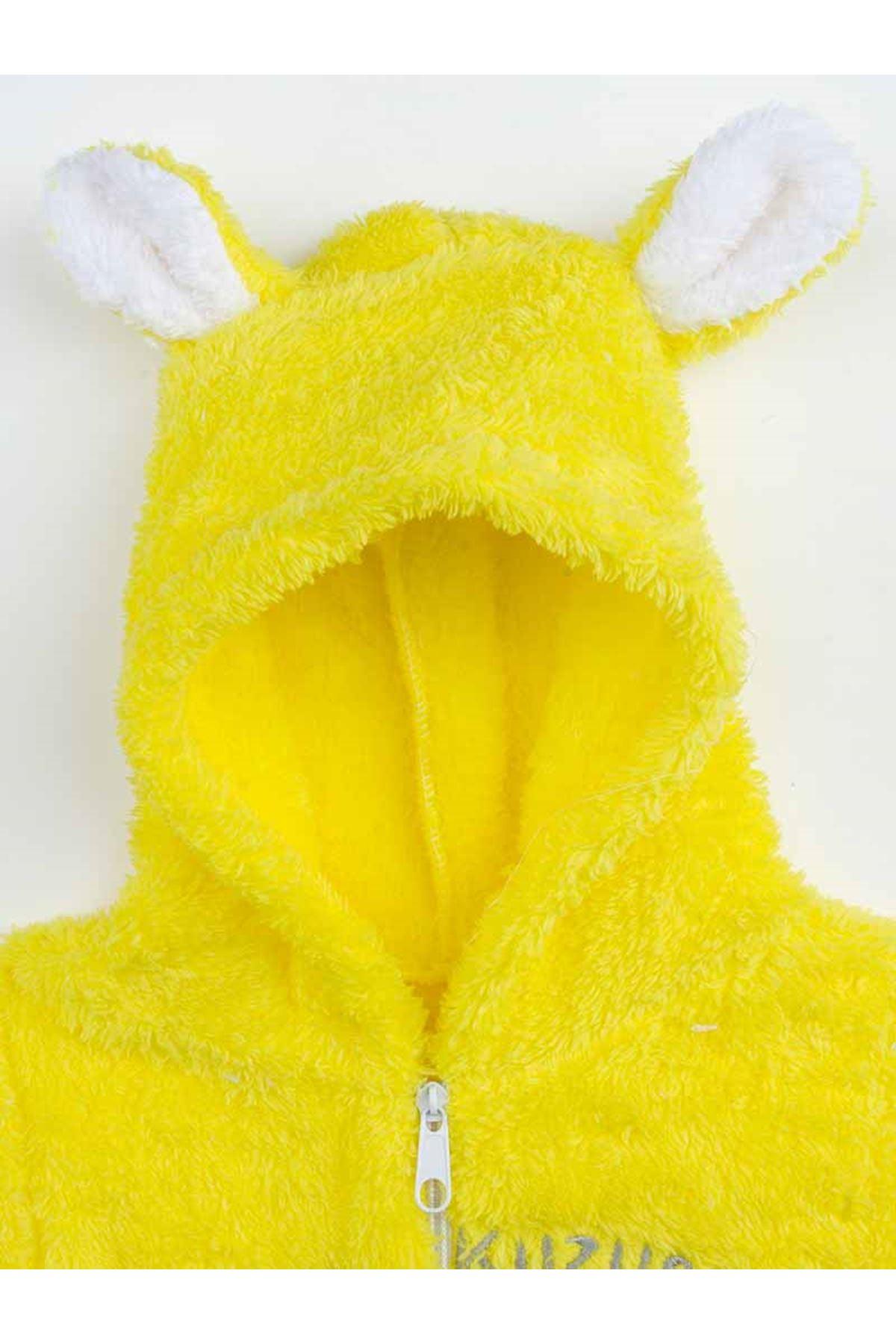 Sarı Peluş Kız Bebek Annesinin Kuzusu Welsoft Tulum