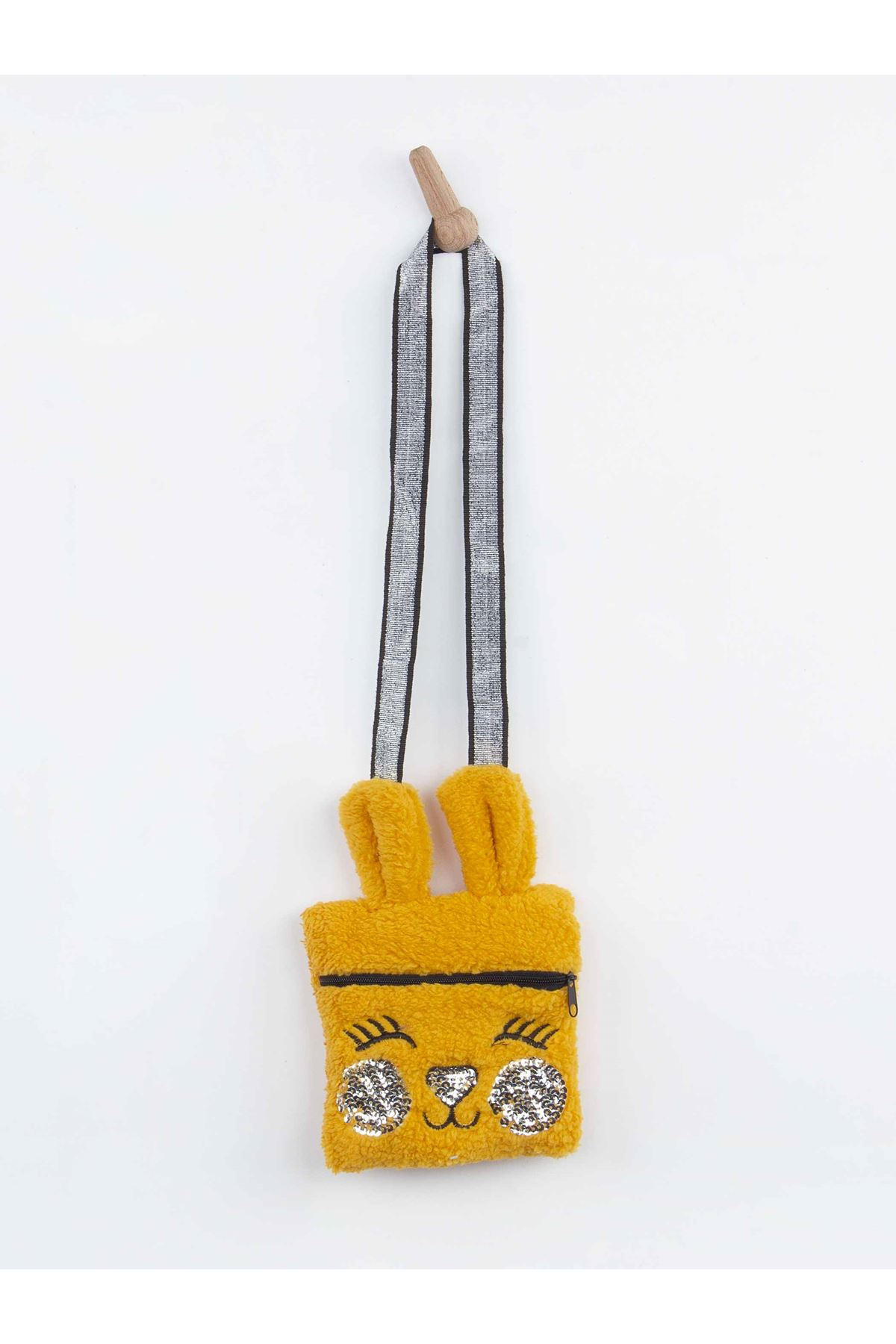 Yellow Winter Plush Female Child Bag 3 PCs Set