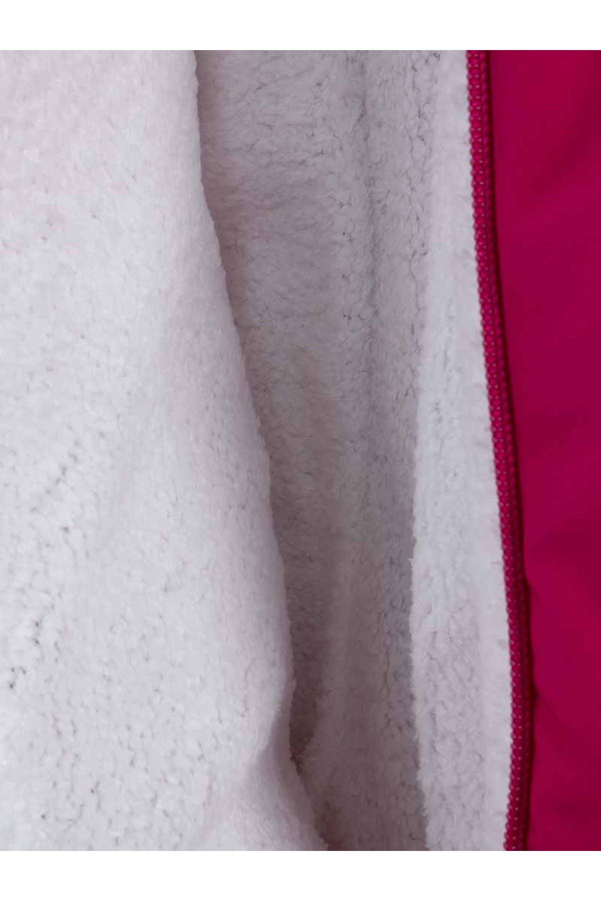 Fuchsia Double Zipper Baby Girl Cosmonaut Jumpsuit