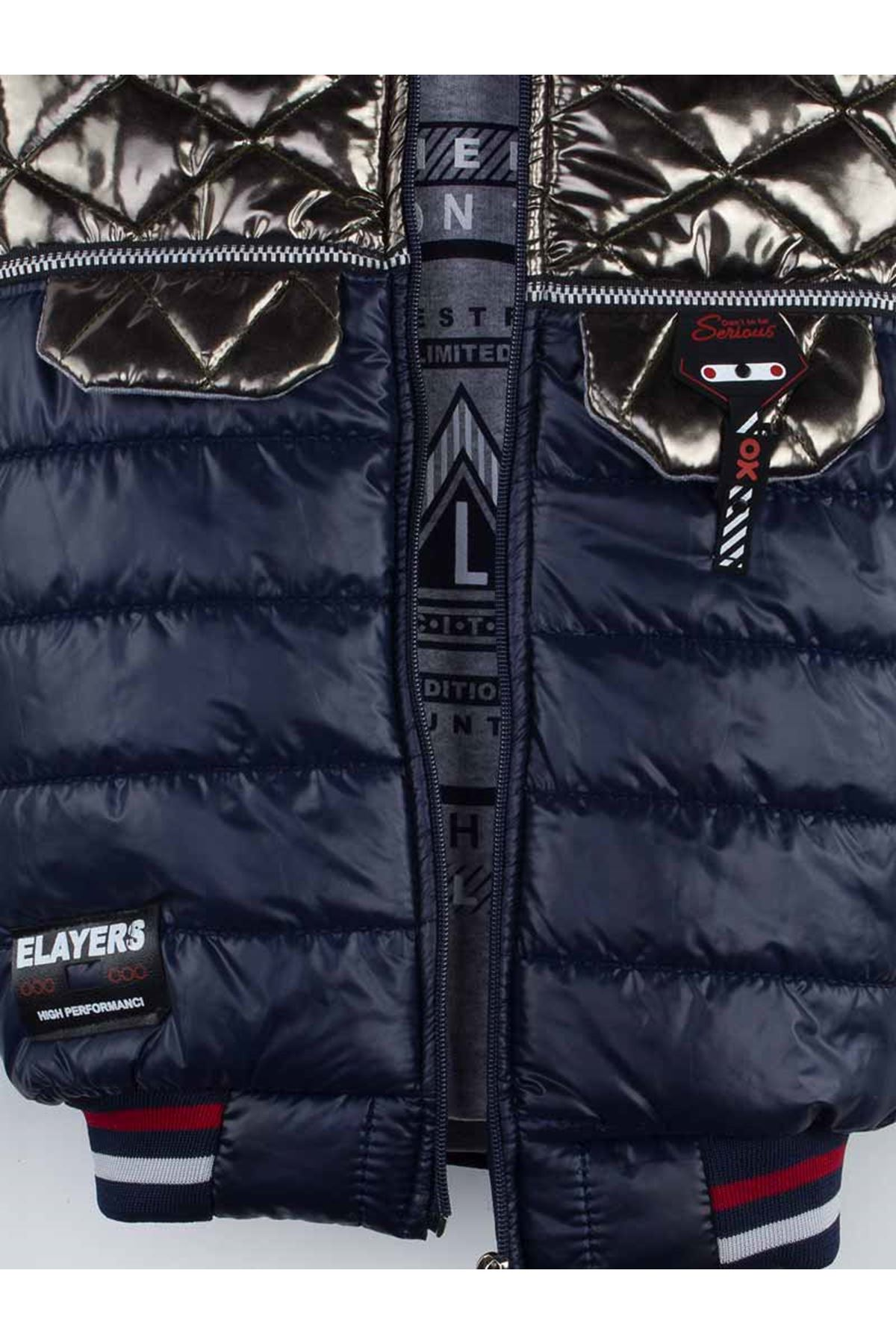 Navy blue-gray Size 3-piece suit bottom tracksuit top sweat hooded inflatable vest cotton casual daily seasonal model
