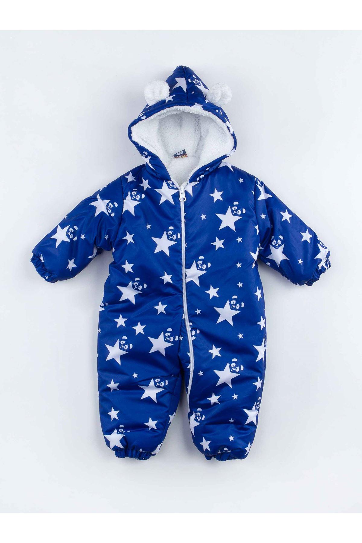 Sax Yıldızlı Erkek Bebek Kozmonot Tulum