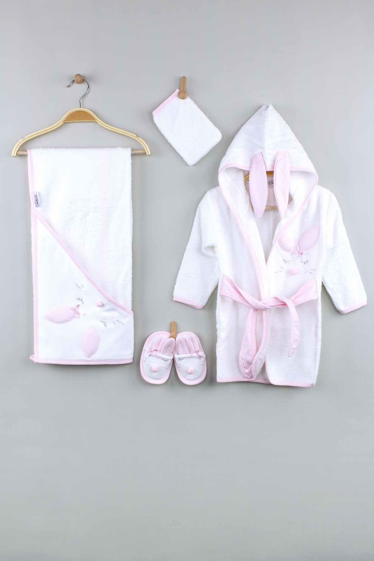 Pink Girls Baby Bathrobe Prince Embroidered Cotton Hooded Bath Clothes Kids Babies Drying Gown Luxury Girl Baby Model