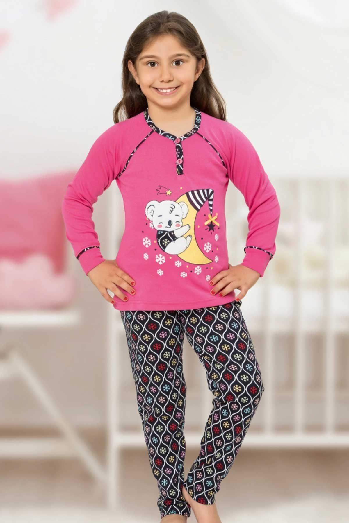Fuchsia Girl Girls Pajamas Set Bottom Pajamas Top Pajamas Kids Daily Wear Homewear Cotton Comfortable Girls Children Pajamas