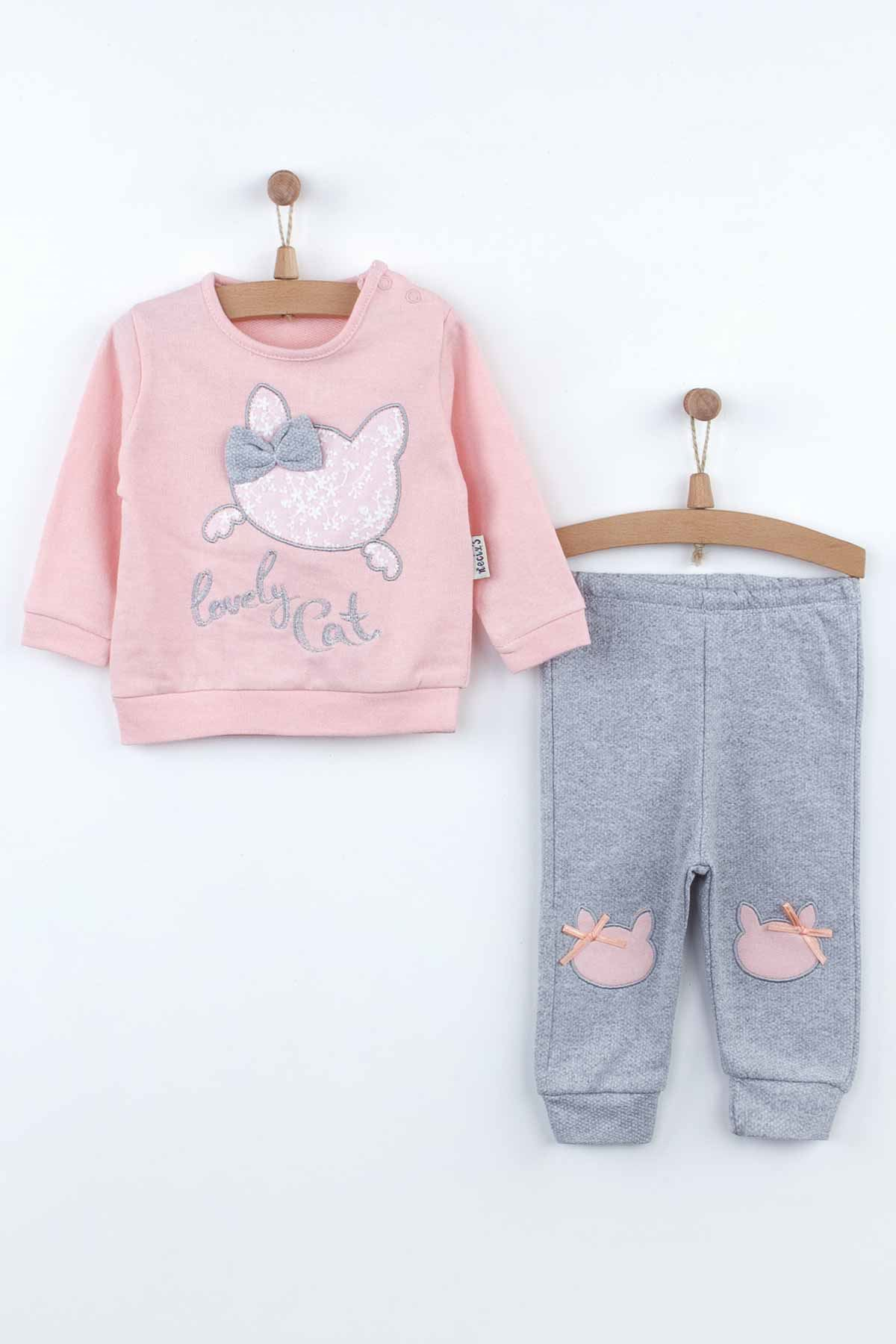 Powder Baby Girl Tracksuit Sweatshirts Suit 2 Piece Set Cute Babies Pajamas Cotton Casual Wear Outfit Girls Babies Model