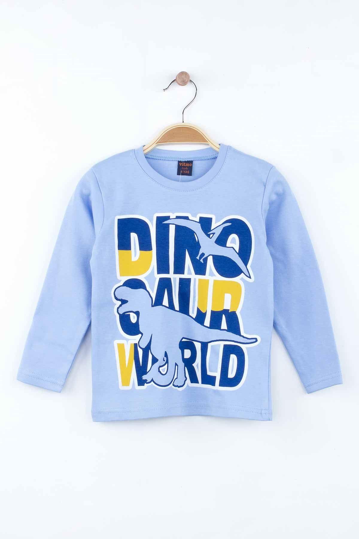 Mavi Erkek Çocuk Pijama Takımı
