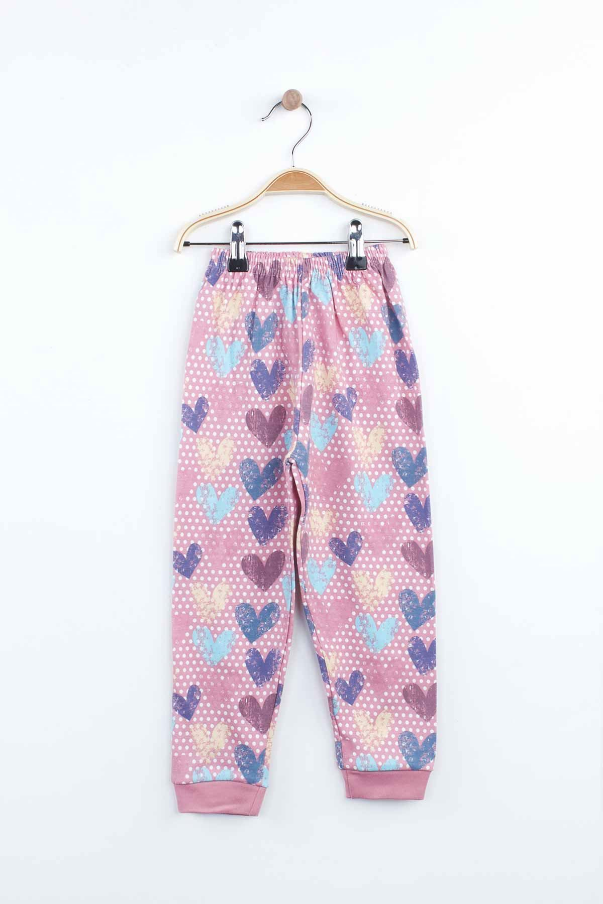 Lila Kız Çocuk Pijama Takımı