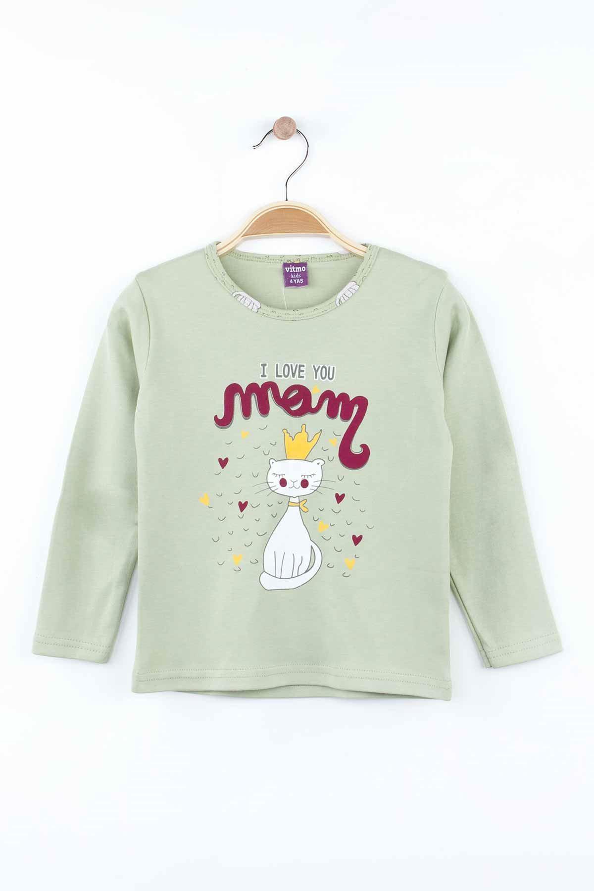 Green Girls Pajamas Set Bottom Pajamas Top Pajamas Kids Daily Wear Homewear Cotton Comfortable Children Pajamas Sets Models