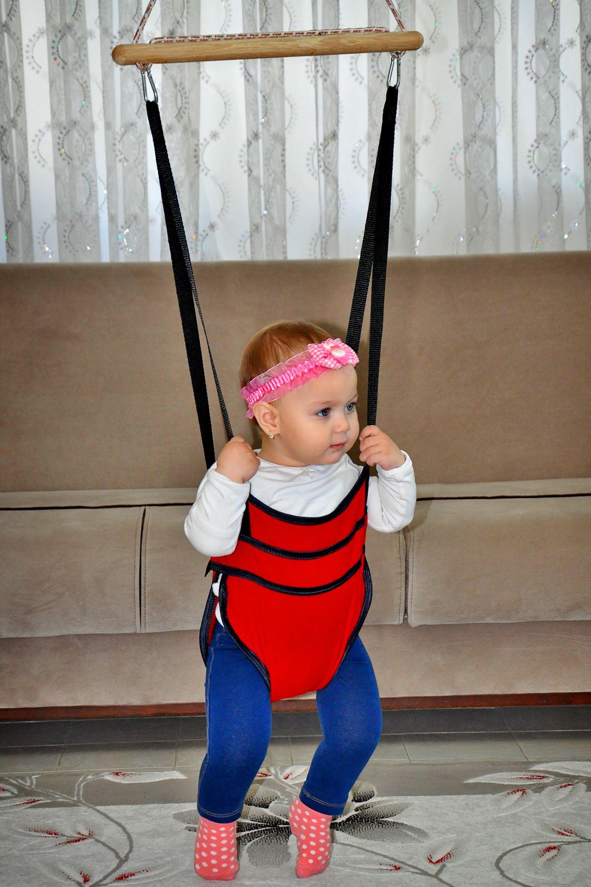 Bundera Bella Kırmızı Bebek Hoppala Zıpzıp Yürüteç