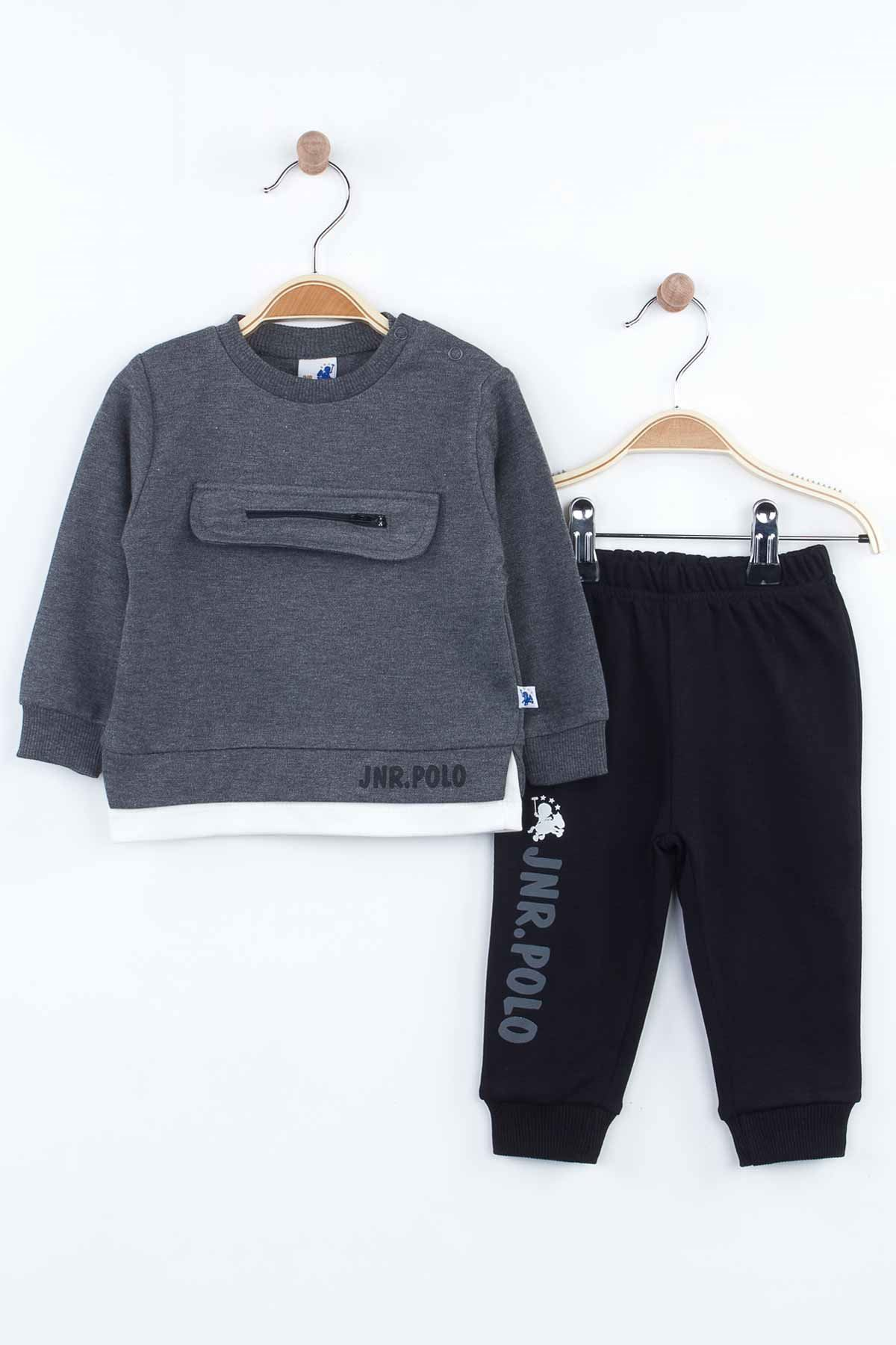 Smoked Baby Boy 2 Piece Suit Bottom Tracksuit Top Sweater Spring Seasonal Cottons Home Use Comfortable Babies Boy Models