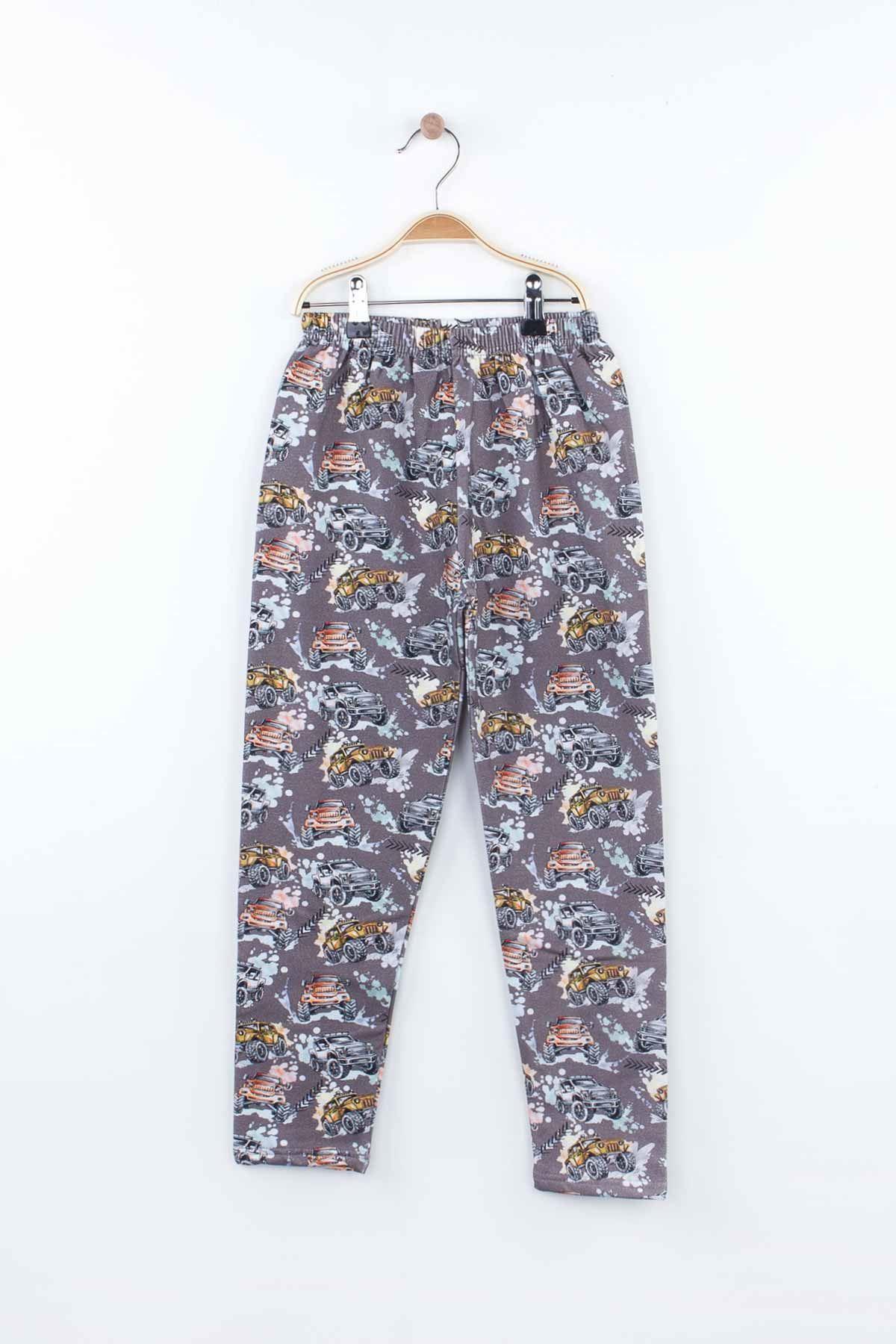 Gri Erkek Çocuk Pijama Takımı