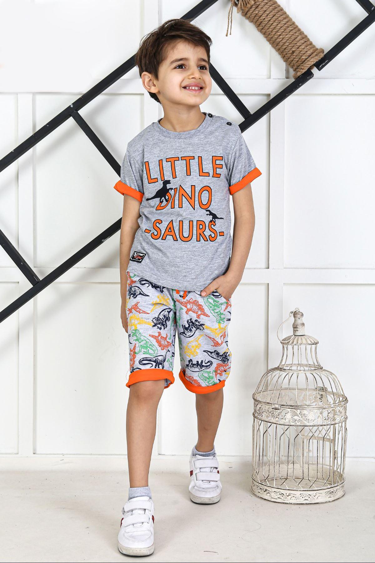 Gray Summer Boy 2 Piece Suit
