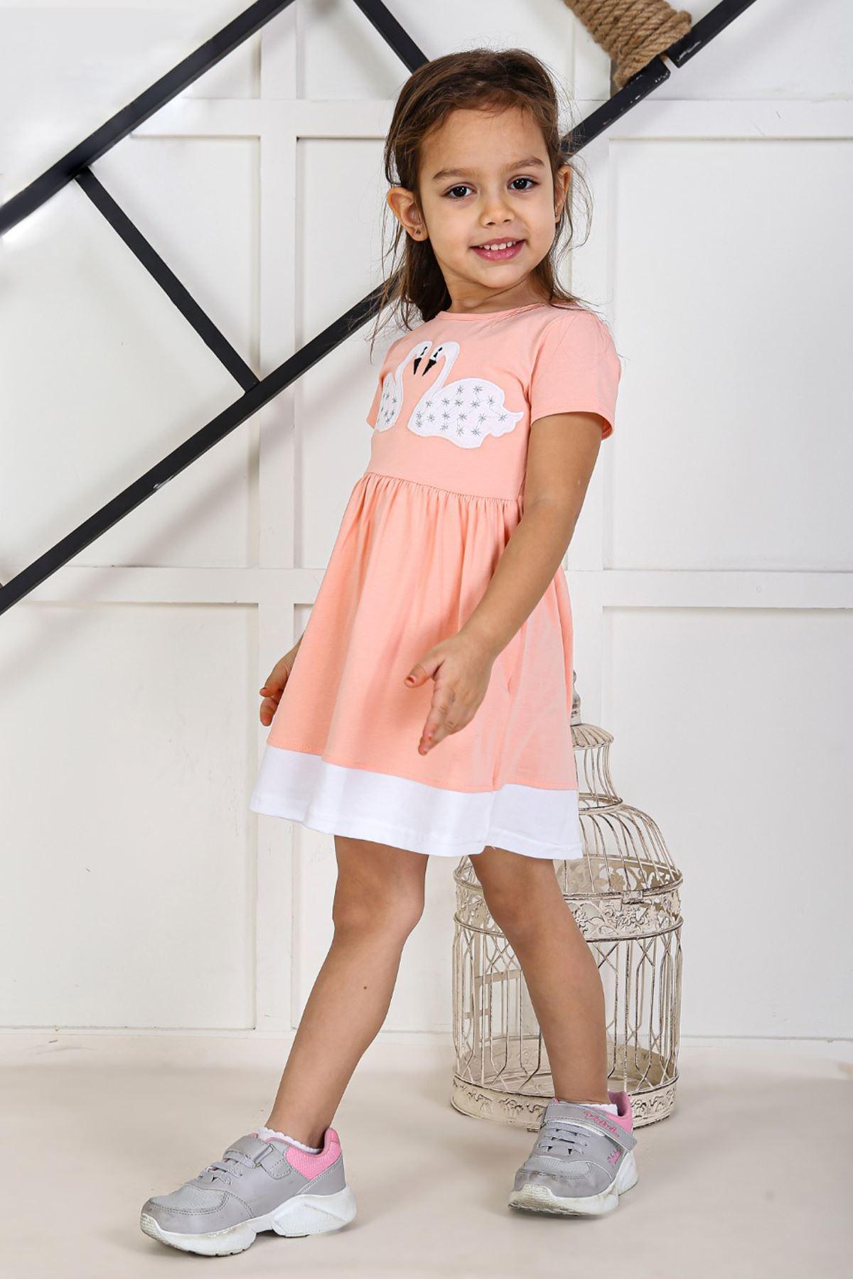 Powder Pink Kids 2021 Girls Girls' Skirt Dress Suits Cotton Casual Summer Children Clothing Girl Dress Cute Holiday Outfits Sports