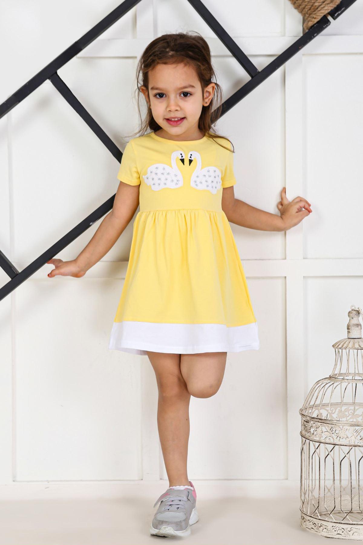 Yellow Kids 2021 Girls Girls' Skirt Dress Suits Cotton Casual Summer Children Clothing Girl Dress Cute Holiday Outfits Sport Mode
