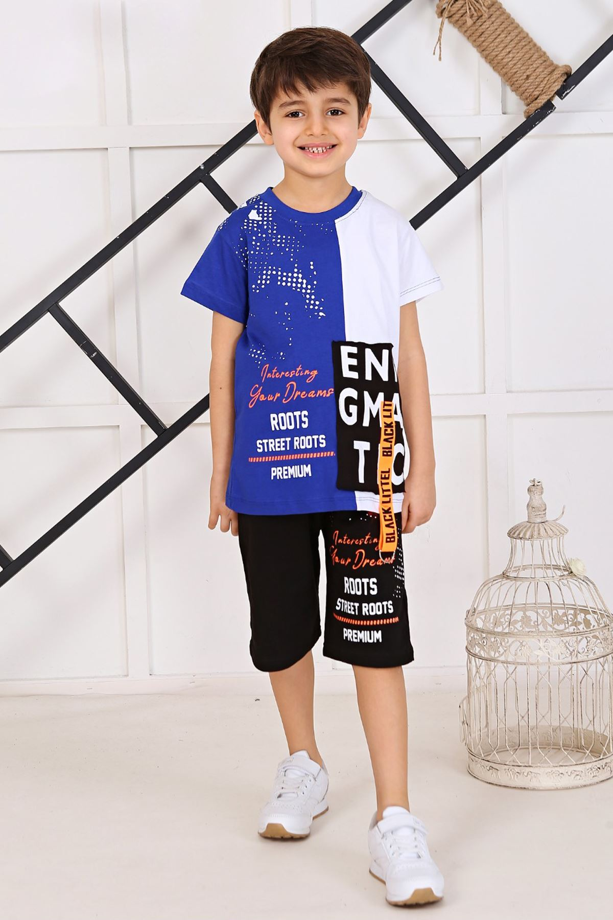 Sax Boy Summer Shorts Set 2 Piece Clothes Shorts T-shirt Casual Casual Holiday Children Boys Cool Cotton Outfits kids Clothing