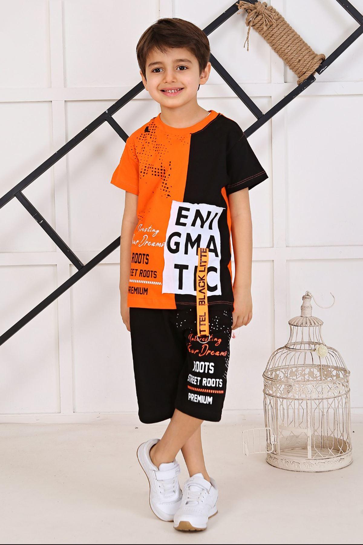 Orenge 2021 Baby Boy Teenage Clothes Suit Summer Male Children T-Shirt Shorts 2Piece Clothing Set Beach Boys outfits Sport Model