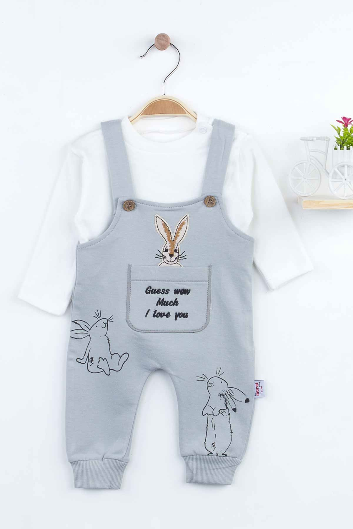 Rabbit Baby Girl Rompers Babies Clothes Set Outfit Cotton Comfortable Underwear 2021 New Season Girls Salopet Rabbit Models