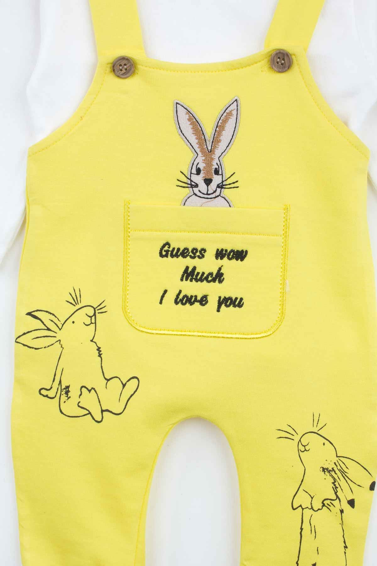 Yellow rabbit Baby Boy Rompers Fashion 2021 Summer New Season Style Babies Clothes Outfit Cotton Comfortable Underwear for Boys Baby
