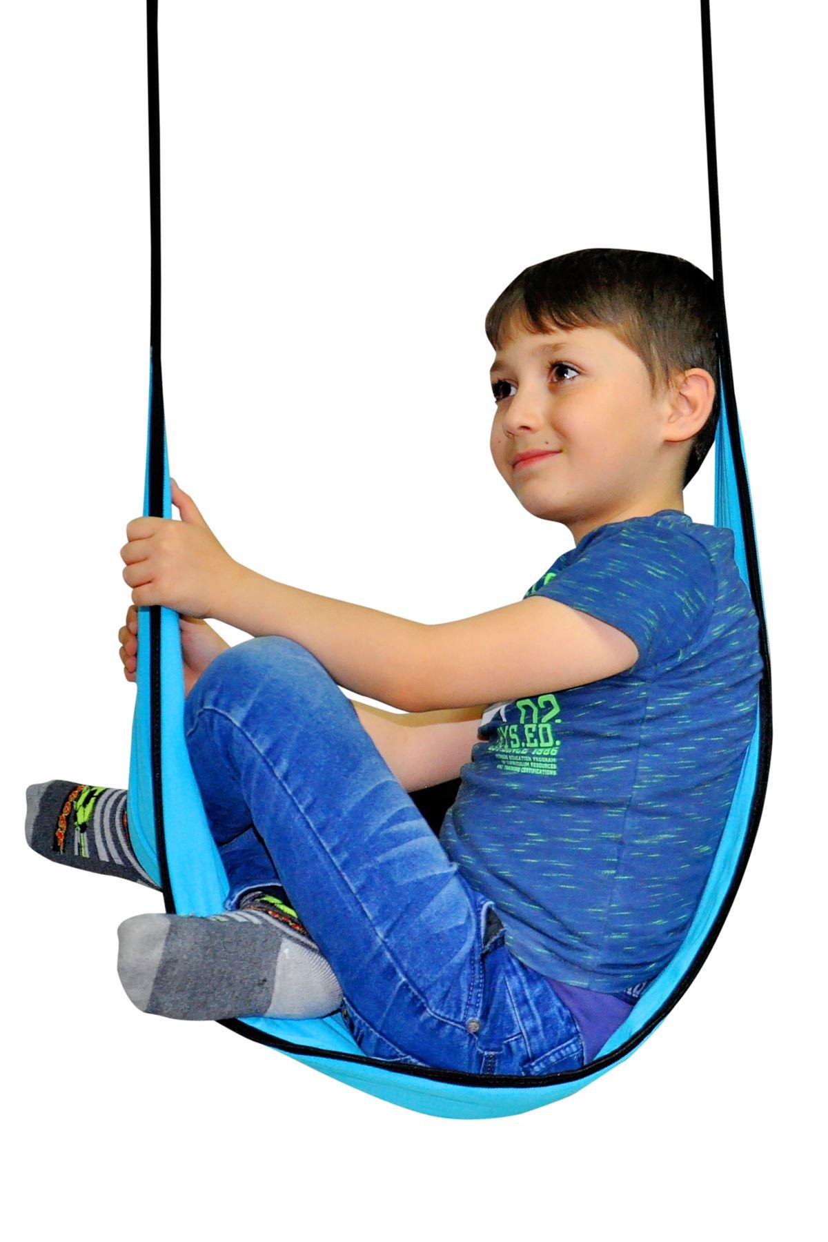 Blue Nature Picnic Hammock Children Swing Home Garden Use Hanging Bracket Activity Kids Drop Model Amusement Models