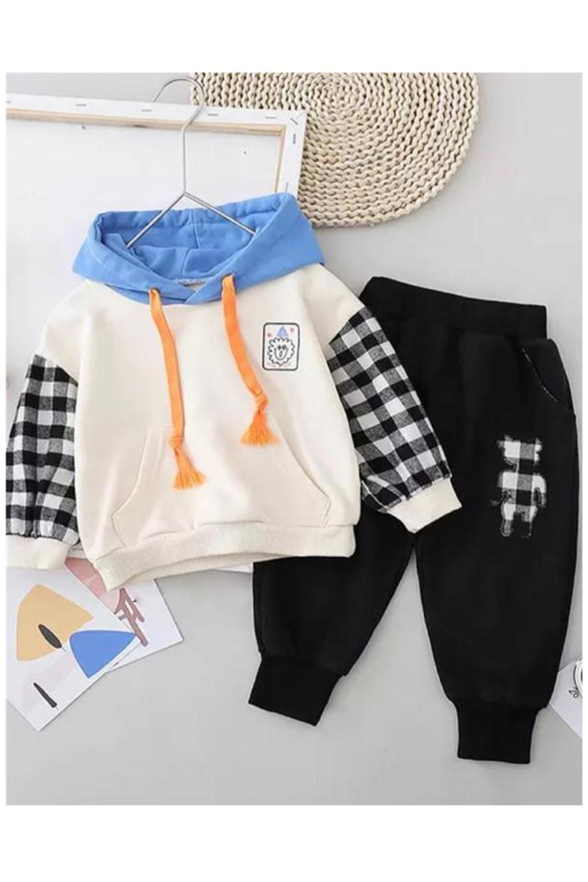 Colorful Baby Boy Seasonal suit Hooded 2-piece Set Cotton Babies Boys 2021 Spring Summer Clothing Models