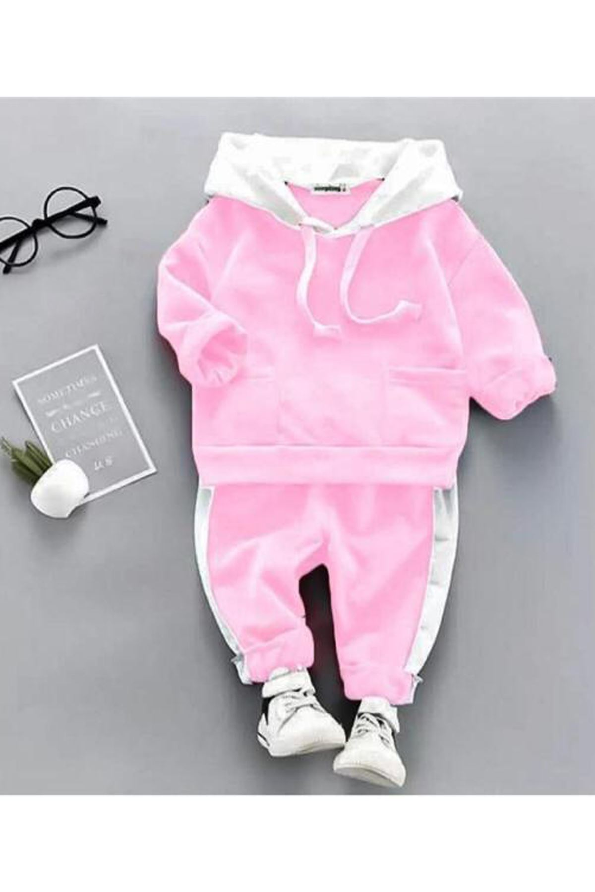 Pink Baby Girls Hooded Seasonal Suit Girl Babies Clothing Outfit Set Kids Models Cotton Casual 2021 Fashion Style Model