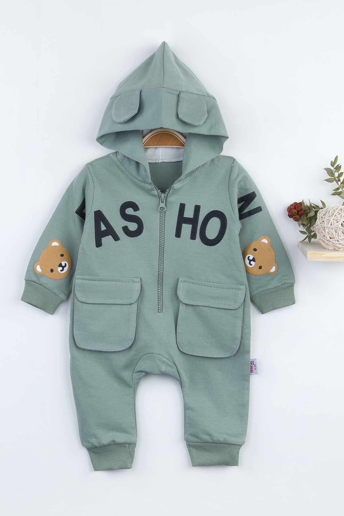 Green Hooded Baby Boy Rompers Fashion 2021 New Season Style Babies Clothes Outfit Cotton Comfortable Underwear for Boys Baby