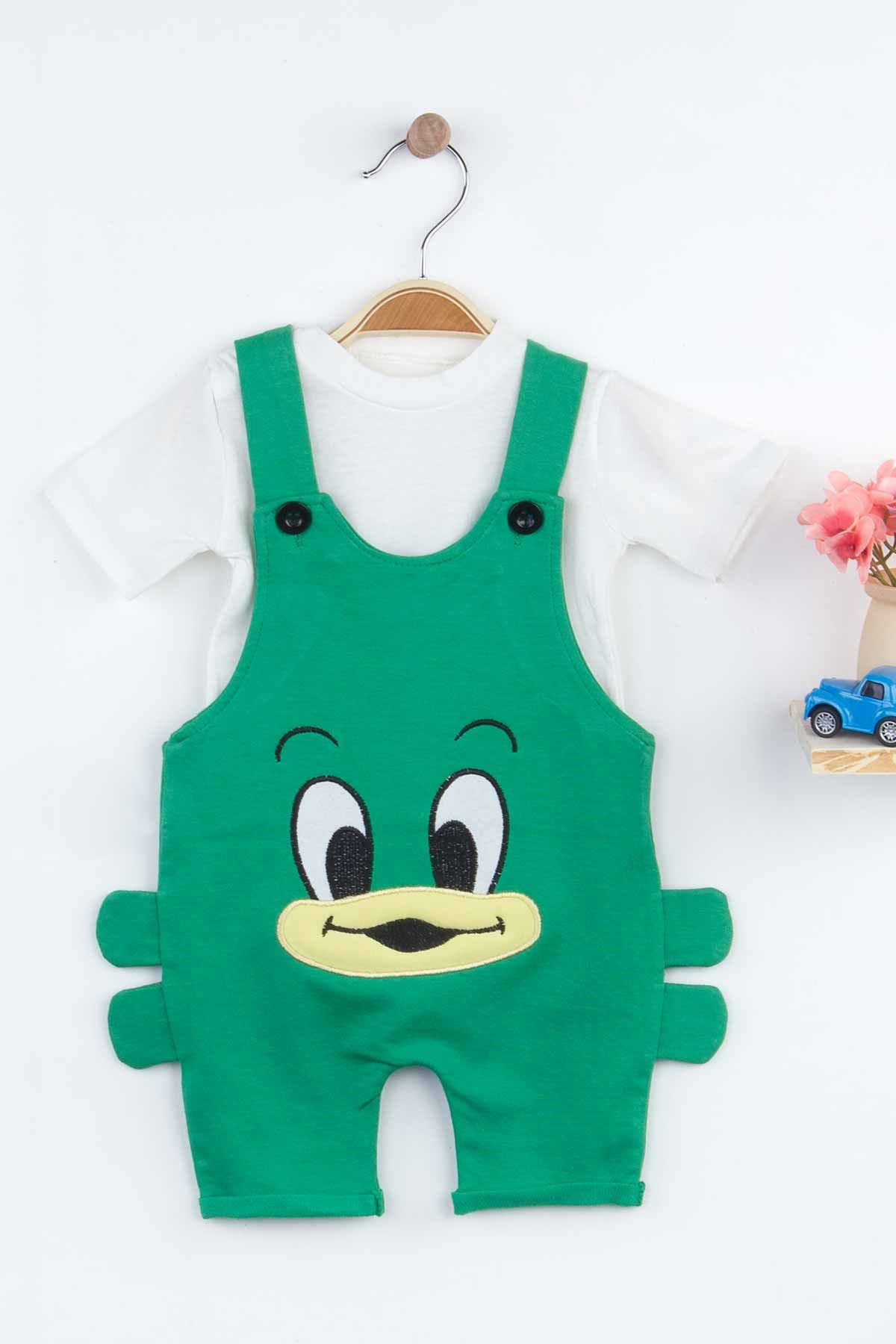 Green Baby Boy Summer Salopet Rompers Fashion 2021 New Season Style Babies Clothes Outfit Cotton Comfortable Underwear for Boys Baby