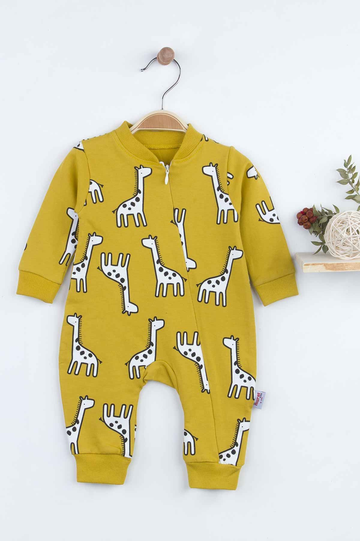 Yellow Giraffe Baby Boy Rompers Fashion 2021 New Season Style Babies Clothes Outfit Cotton Comfortable Underwear for Boys Baby Model