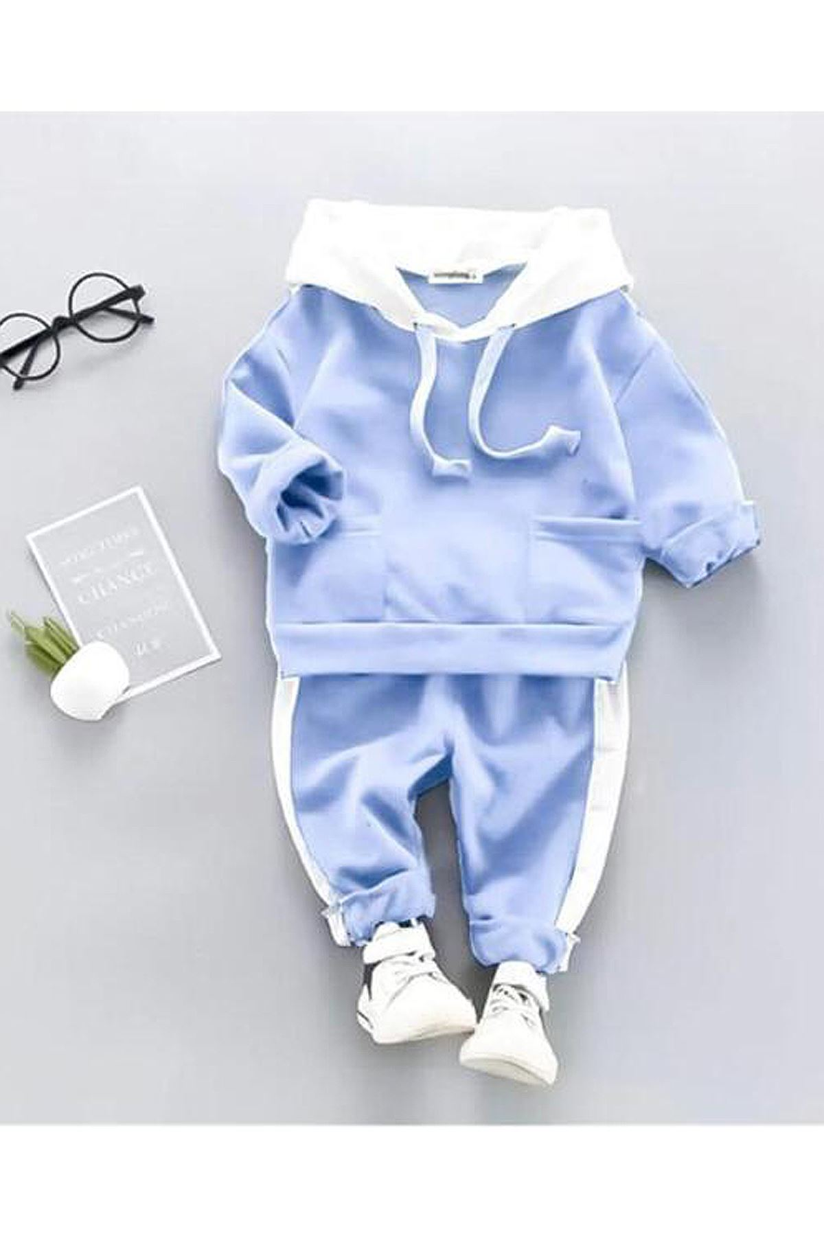 Blue Baby Boy Hooded Seasonal Suit Male Babies Clothing Outfit Set Models Cotton Casual 2021 Fashion Boys Style Model