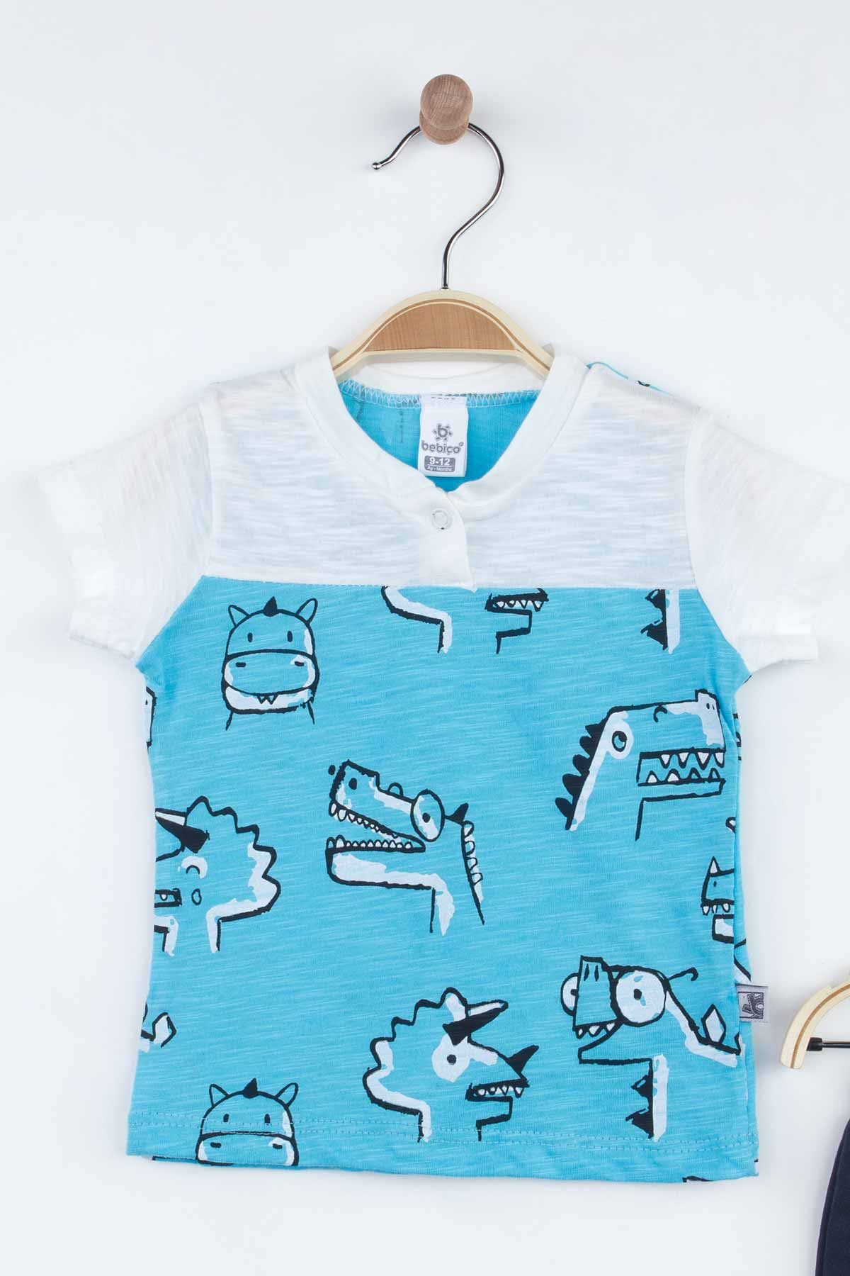 Blue Baby Boy Shorts Set Summer 2021 Fashion Babies Boys Outfit Cotton Casual Vacation Use Clothing Models