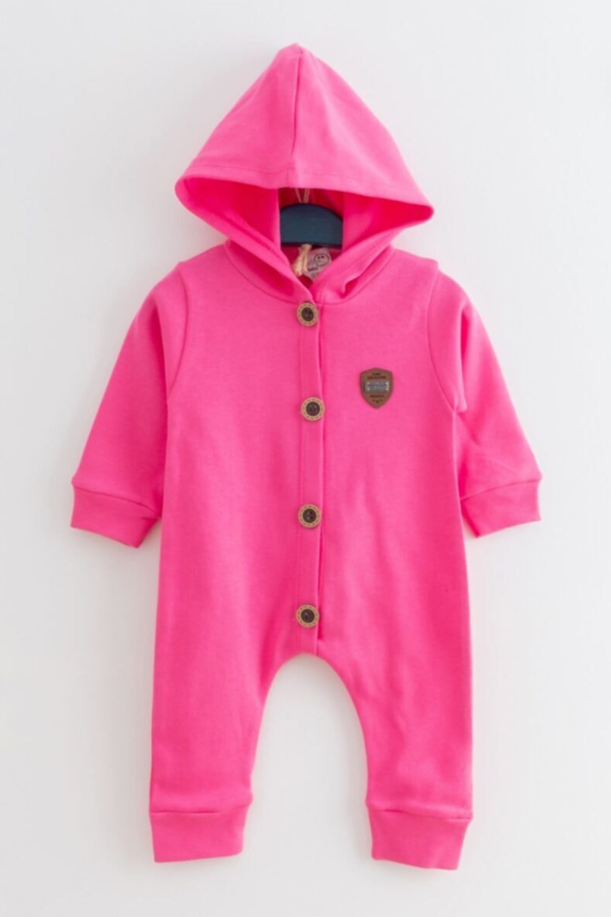 Fuchsia Baby Girl Rompers Hooded Girls Babies Clothes Outfit Models Kids Cotton Comfortable 2021 Fashion Style Models