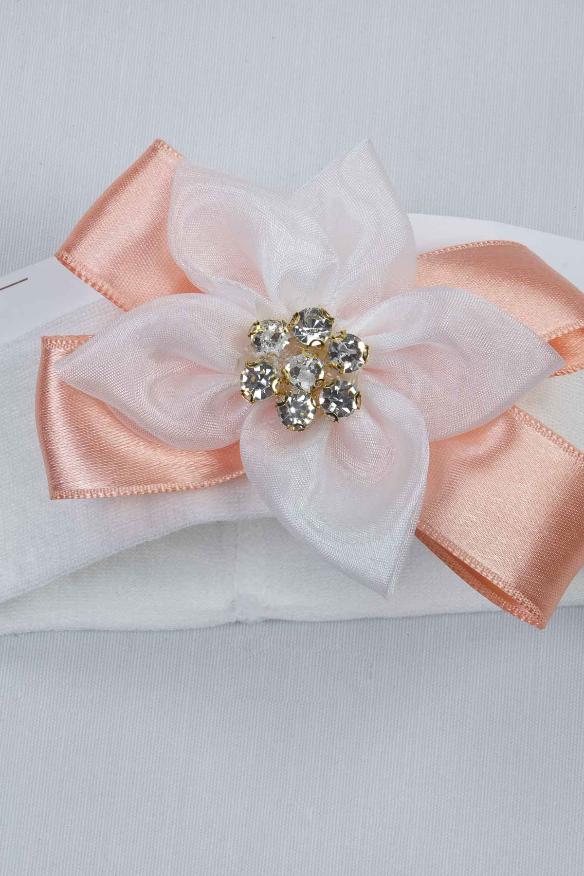 Powder Puerperal Crown Slippers and Baby Booties Bandana Set