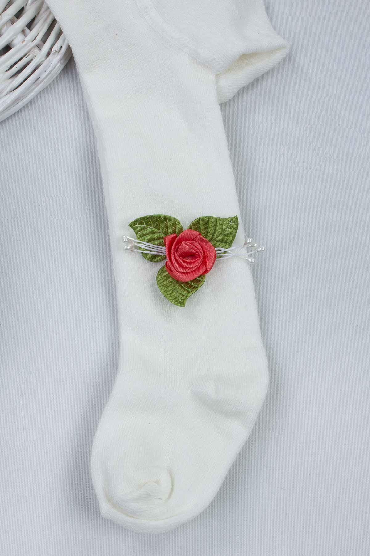 Narçiçeği Kız Bebek 3 lü Hediyelik Çorap Bandana Ayakkabı Set