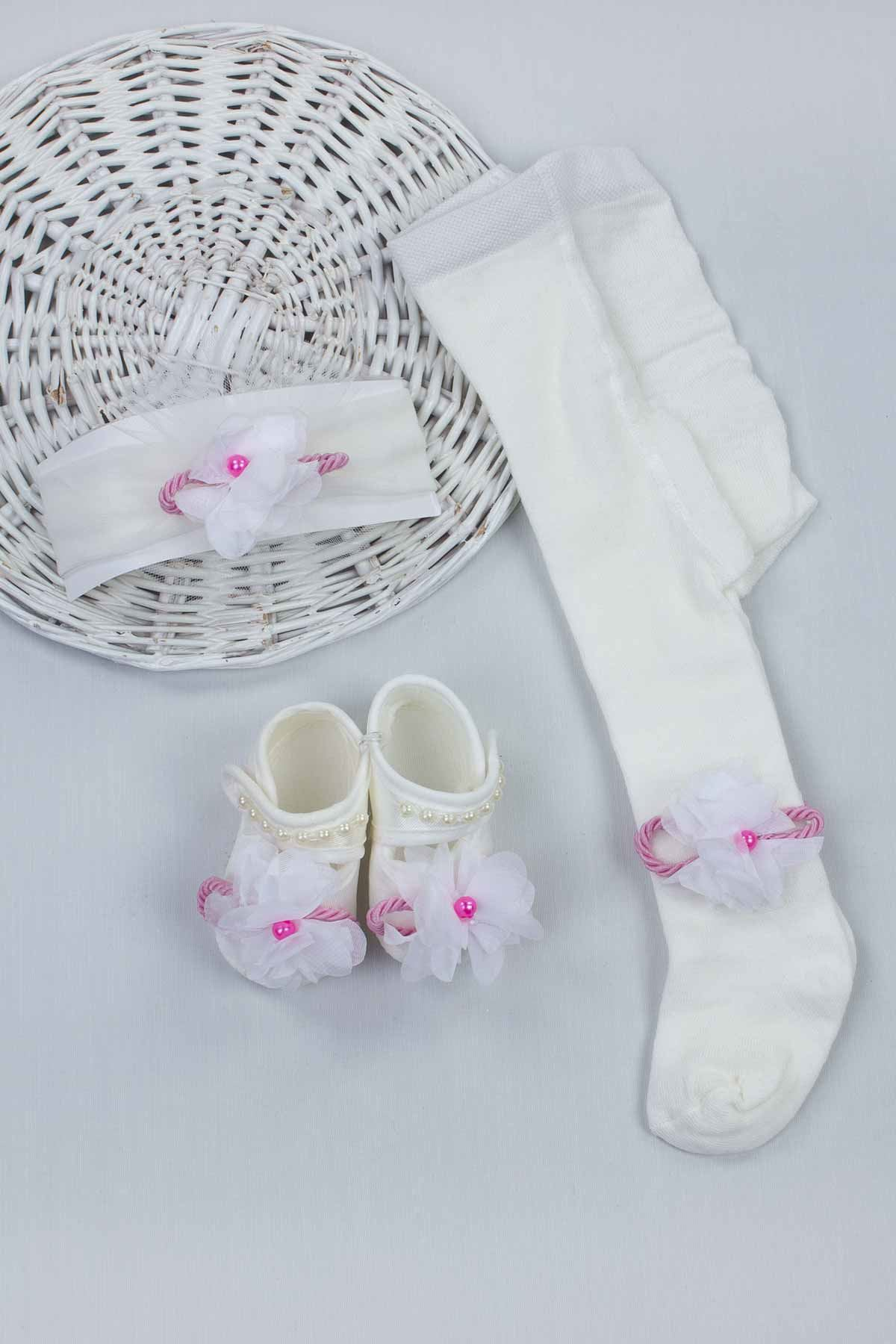 Pink Girl Babies Newborn Gift Suit Set Girls Babies Tights Stockings Hair Bandana Shoes Baby Fashion Style 2021 Mom Gift package