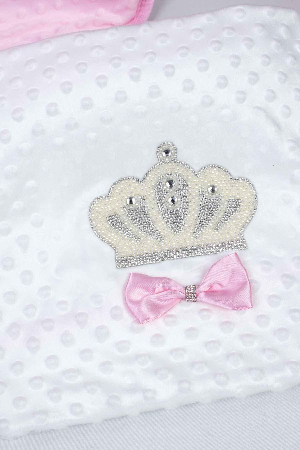 White Girl Baby Blanket King Queen Girls Babies Newborn Crown Embossed Ultra Soft Antibacterial Infants Girls Princess Models